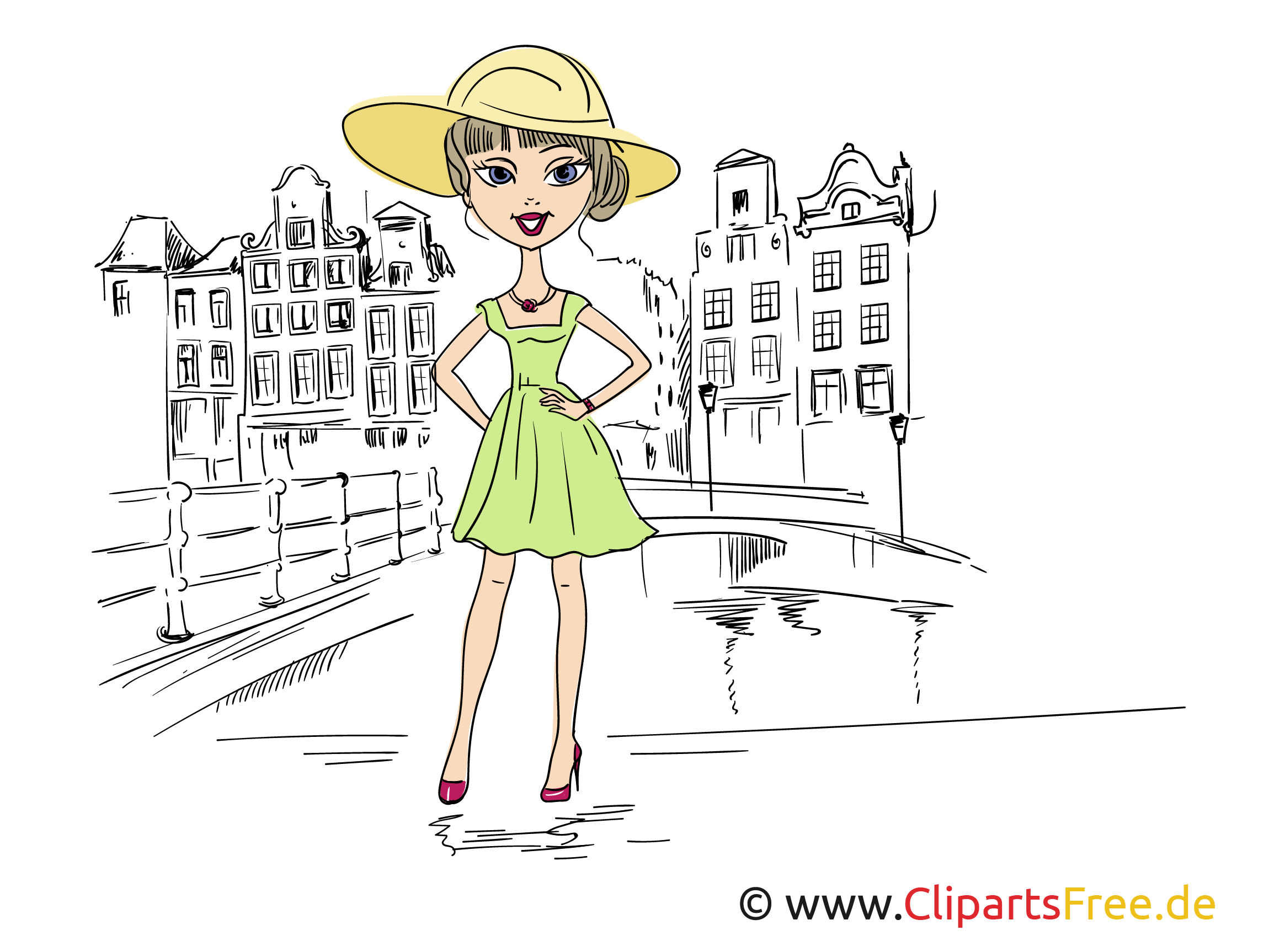 Beauty, Girl Illustration, Clip Art