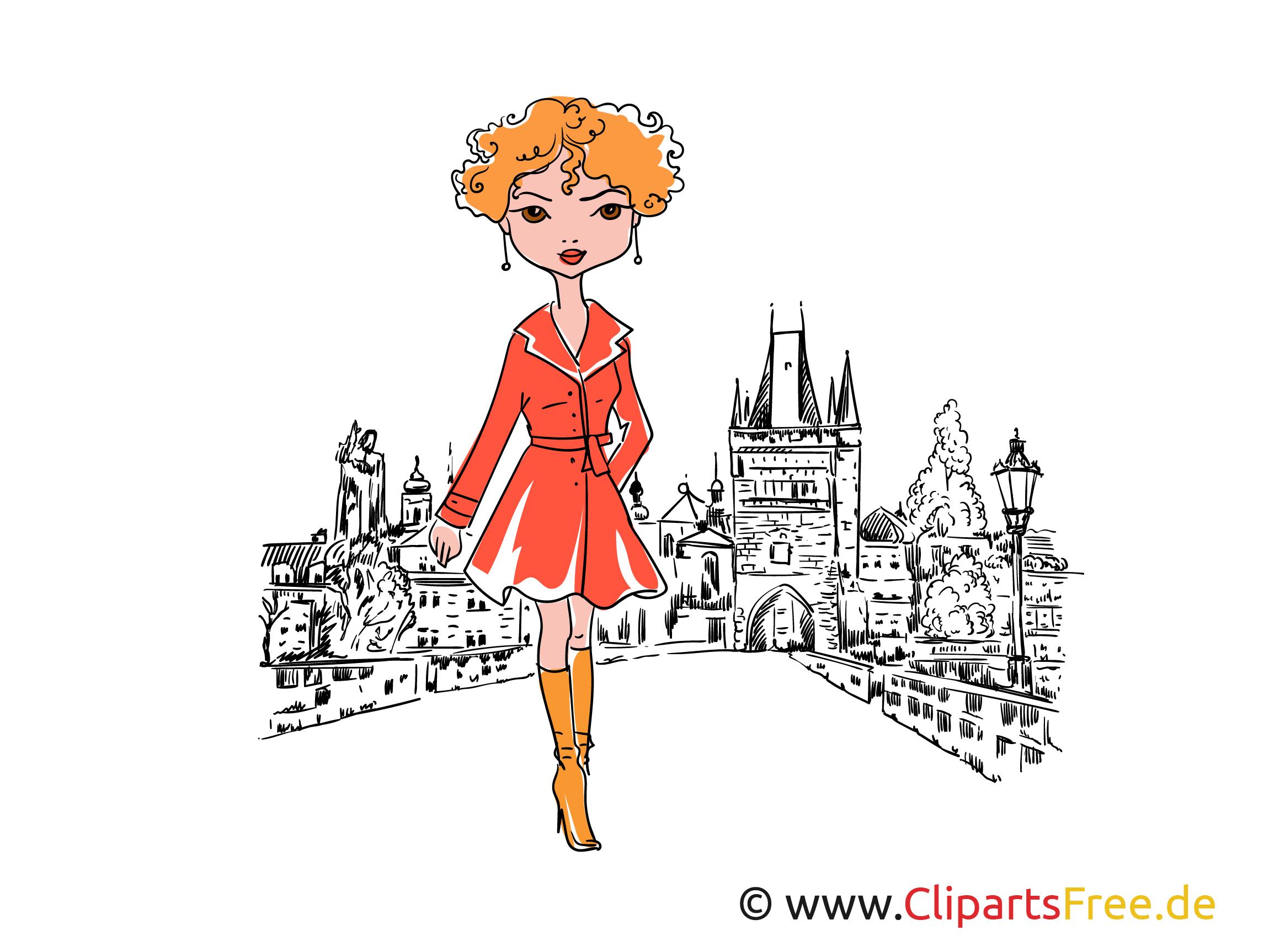 Schöne Mädels posierend Cliparts, Illustrationen, Bilder