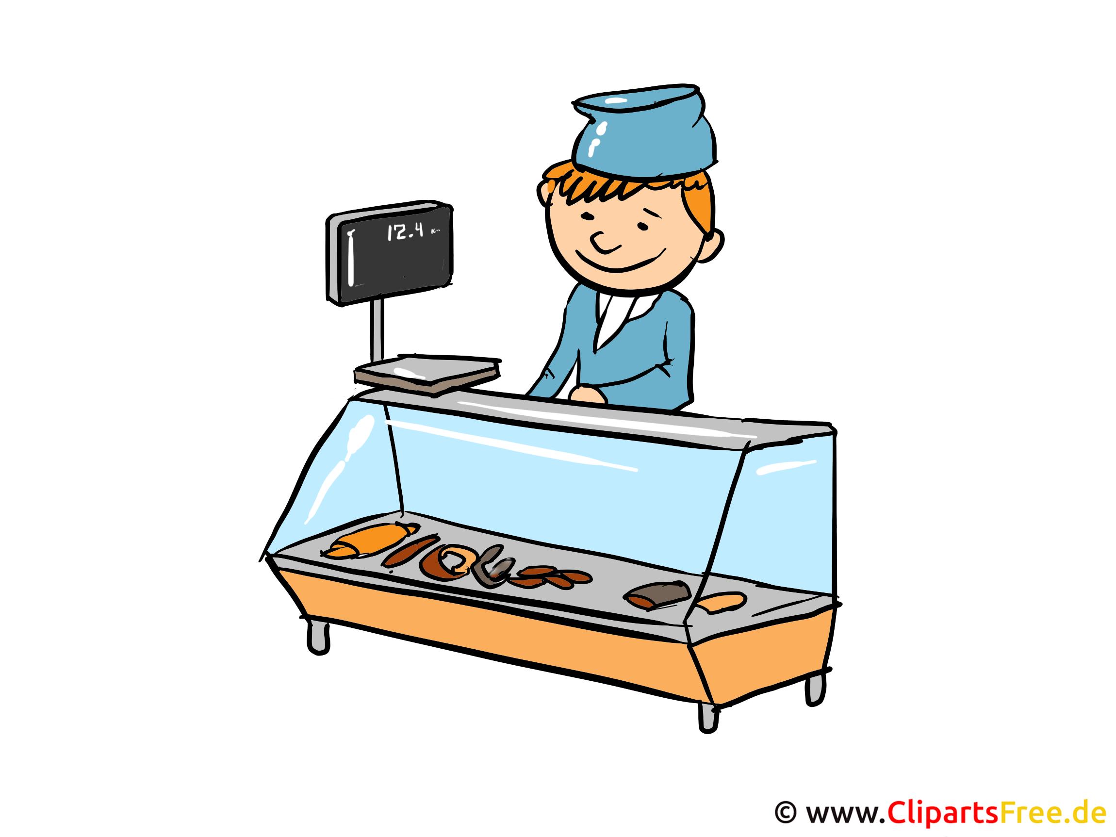 Verkäufer Clipart, Bild, Cartoon, Illustration kostenlos