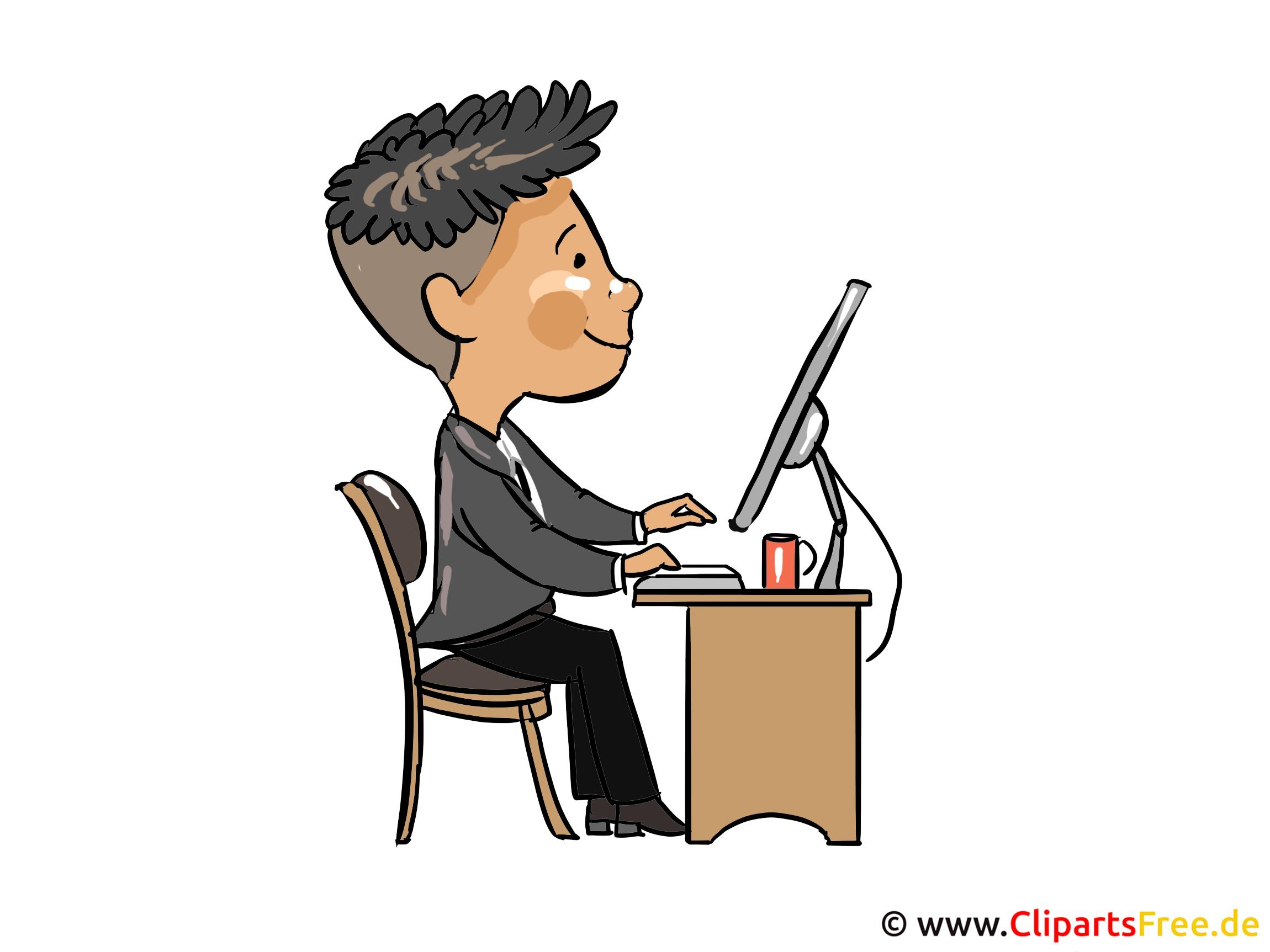 Webdesigner Clipart, Bild, Cartoon, Illustration kostenlos