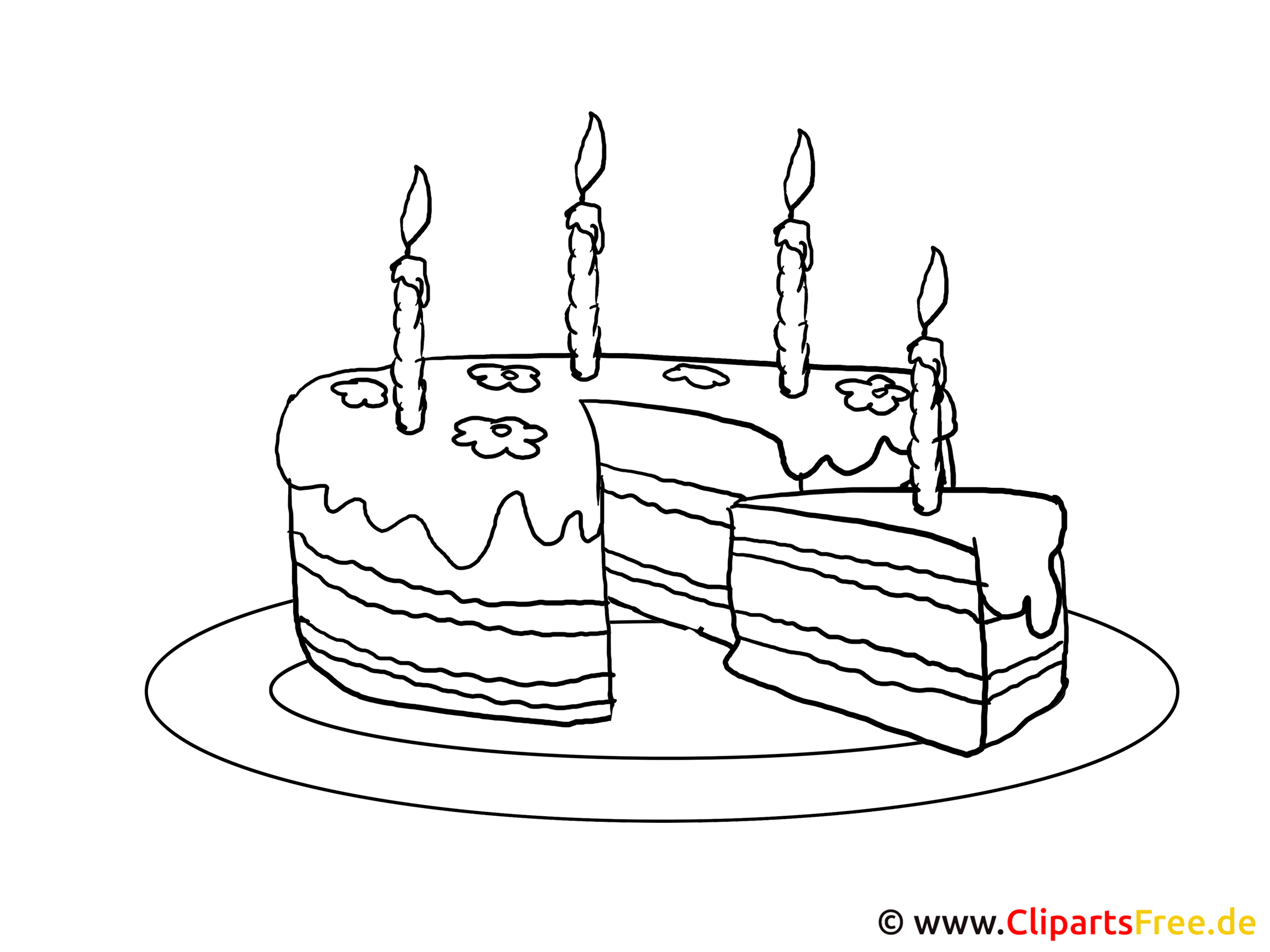 Cliparts Kostenlos Geburtstagskuchen