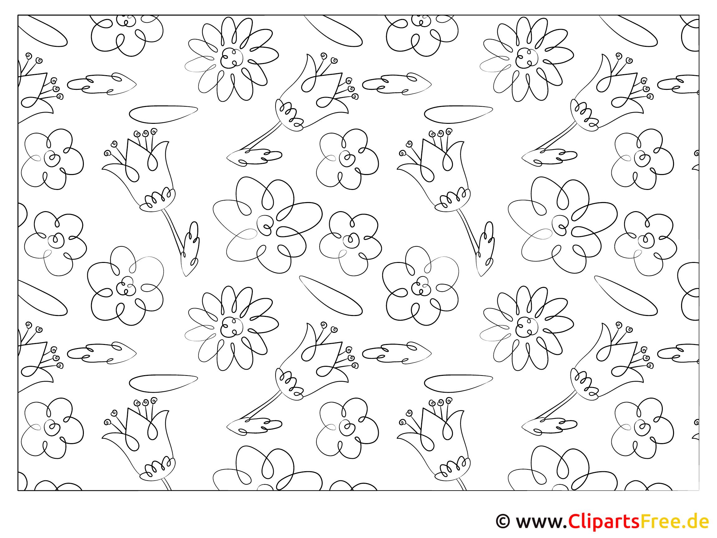 Blumen Ausmalbilder Ausdrucken