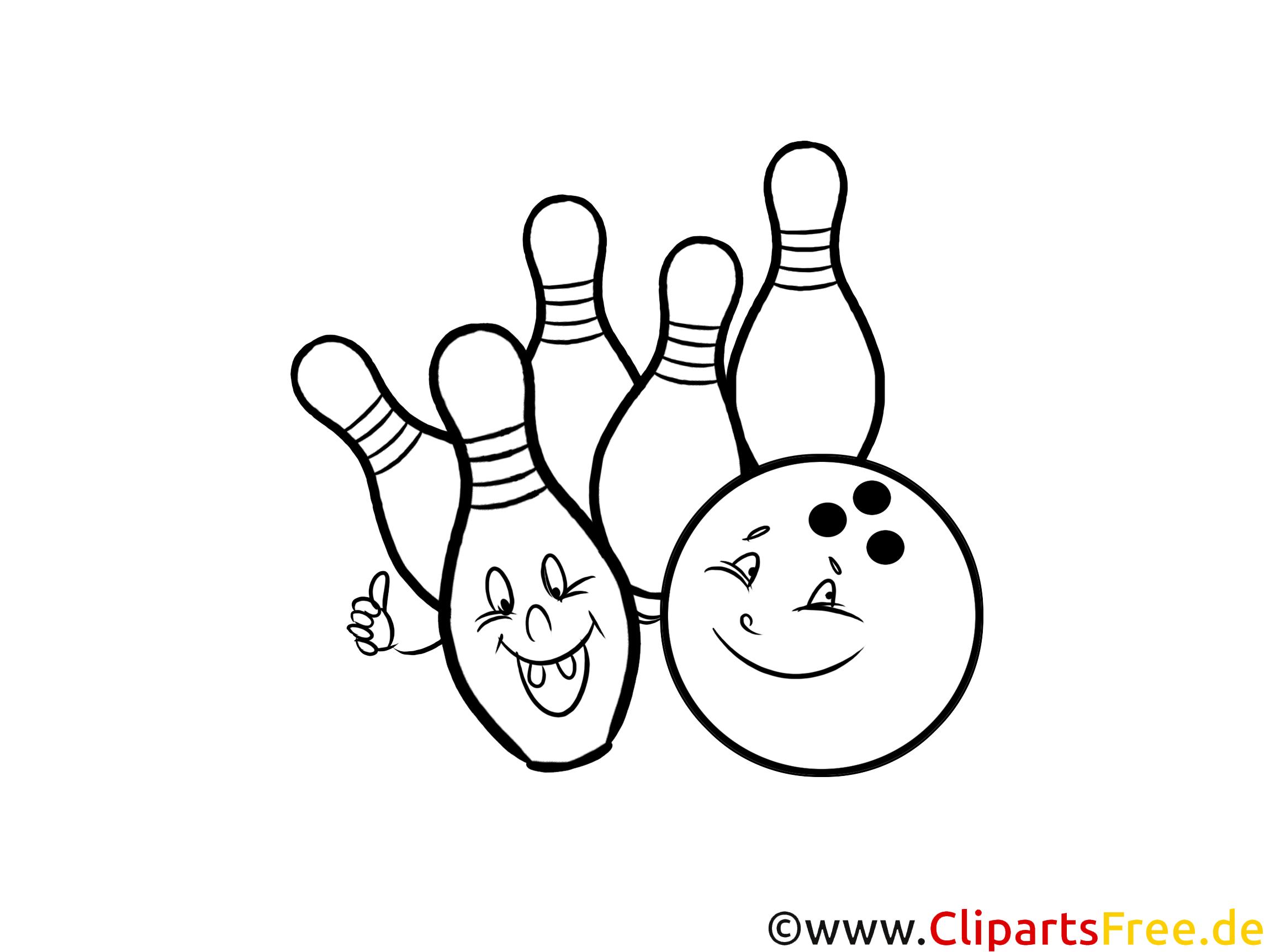 bowling ausmalbild