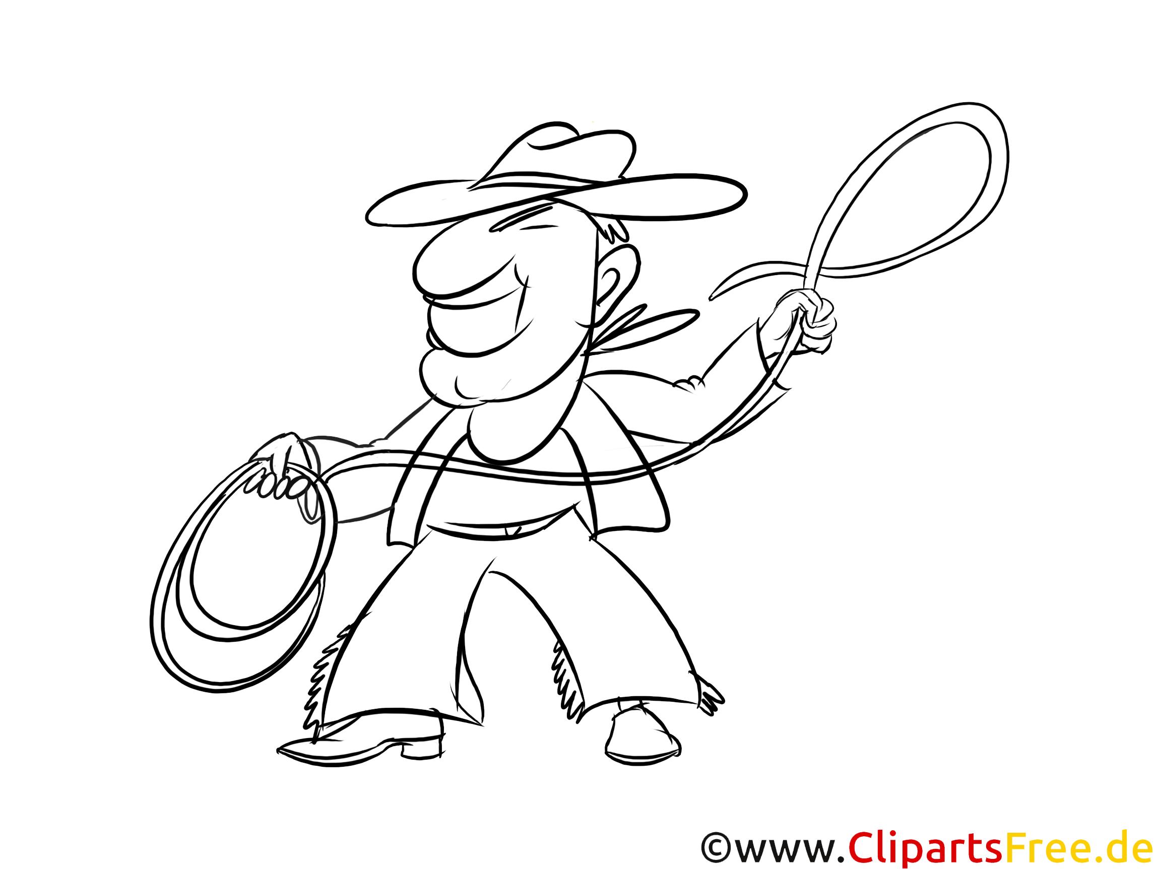 cowboy värityskuva