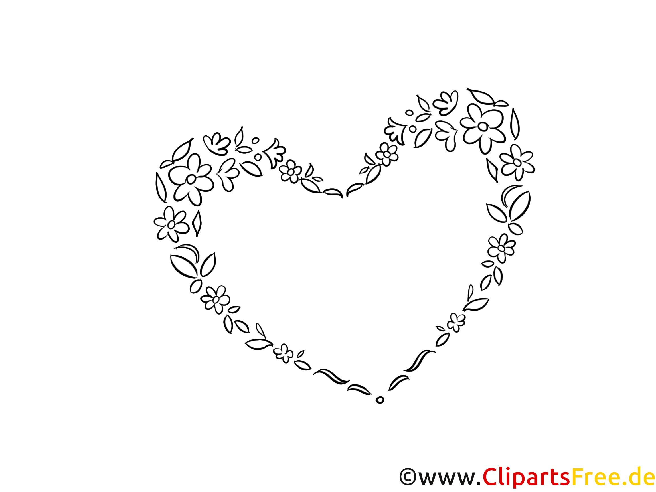 Herz Malvorlage Hochzeit