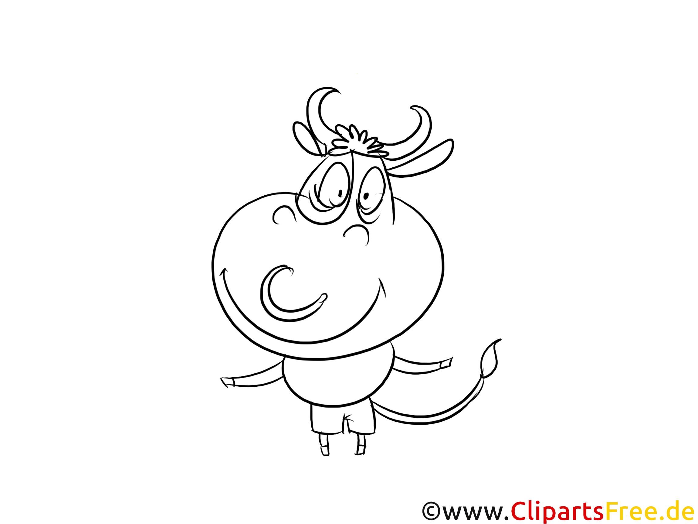 lustige kuh malvorlage