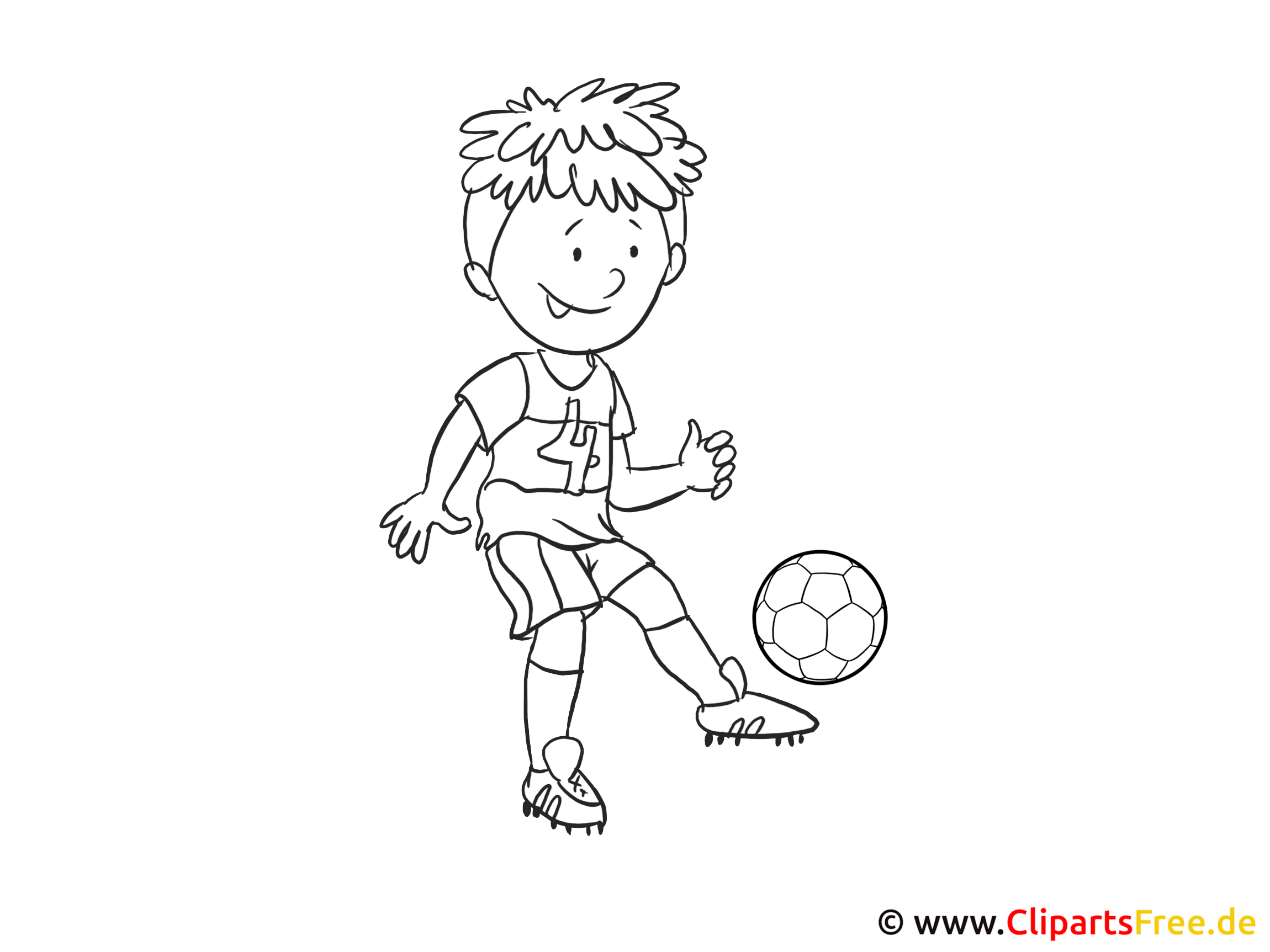 Fussball Bild Zum Ausmalen