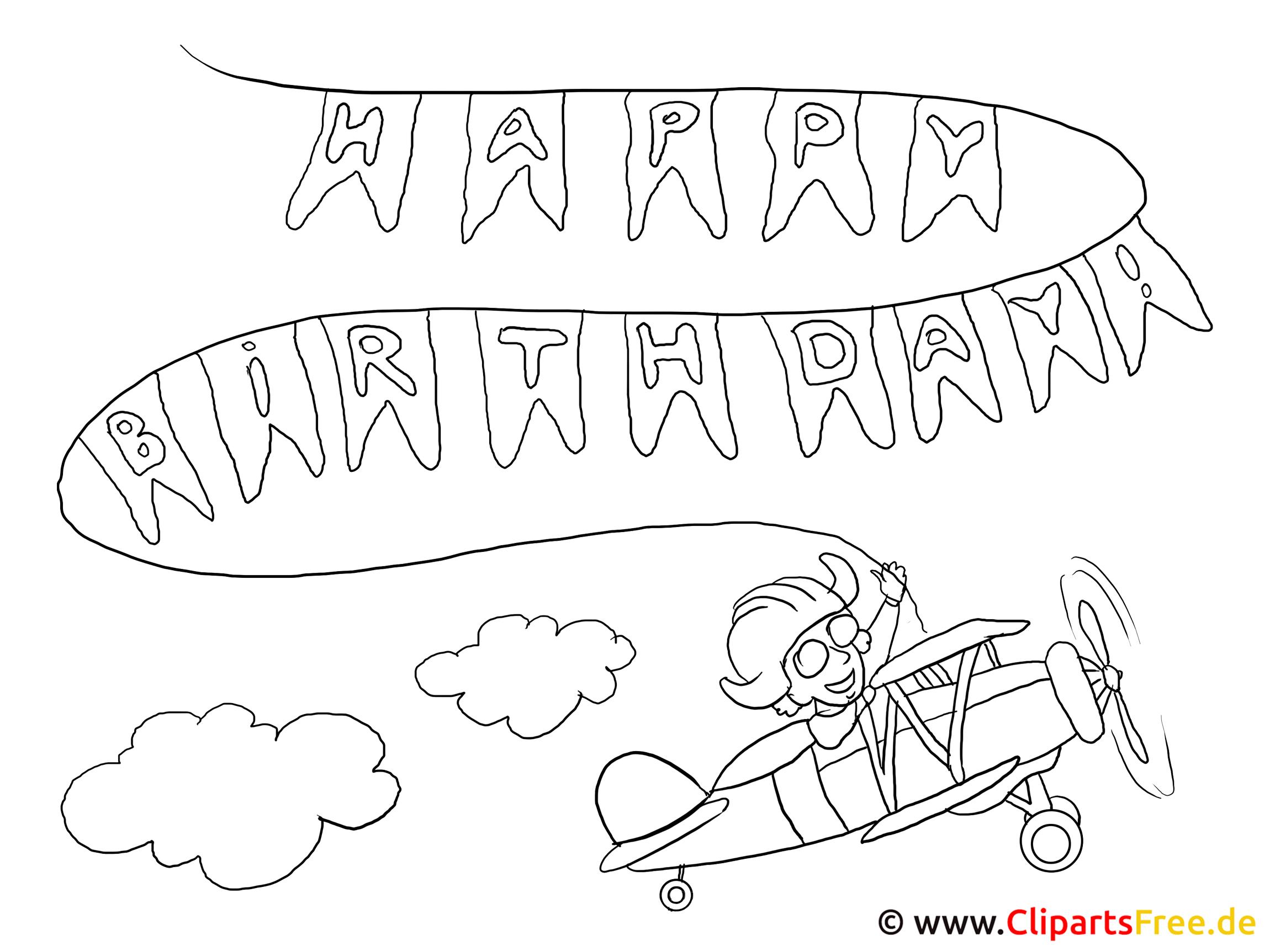 Geburtstags Malvorlagen