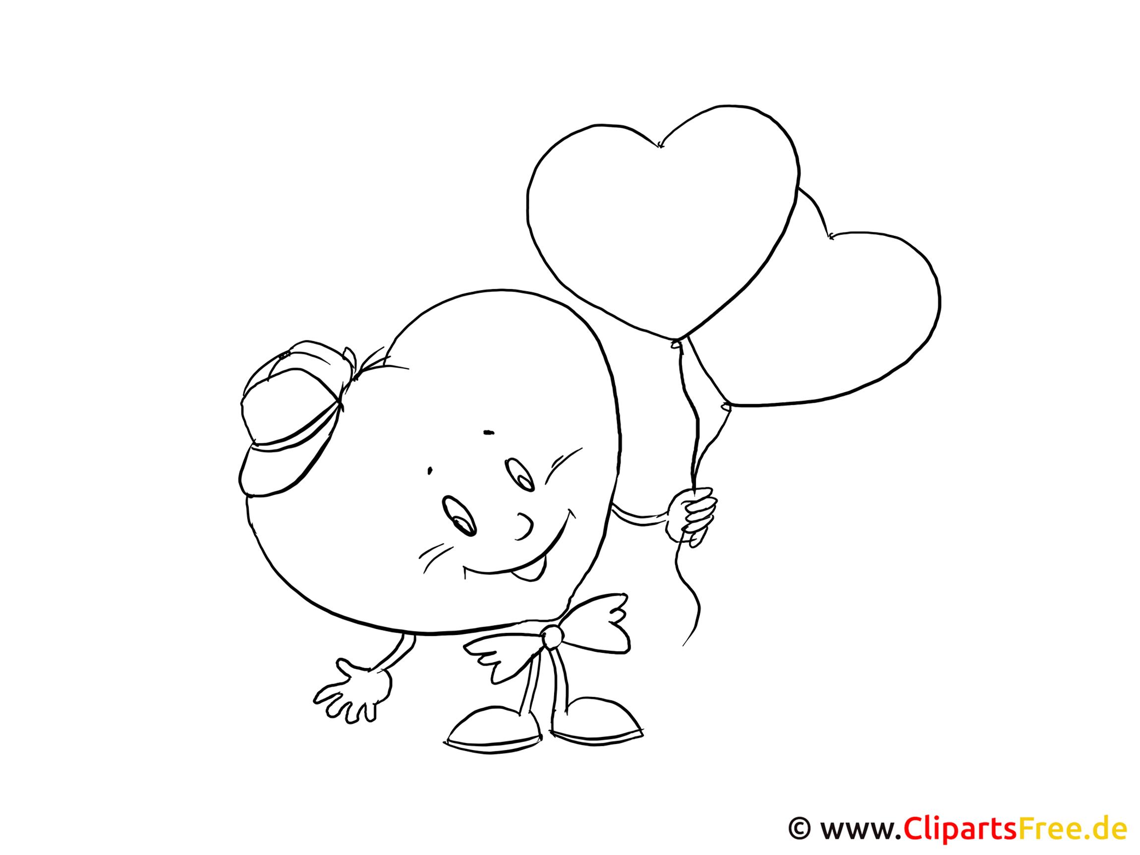 Boyama Sayfasi Cizgi Film Kalp