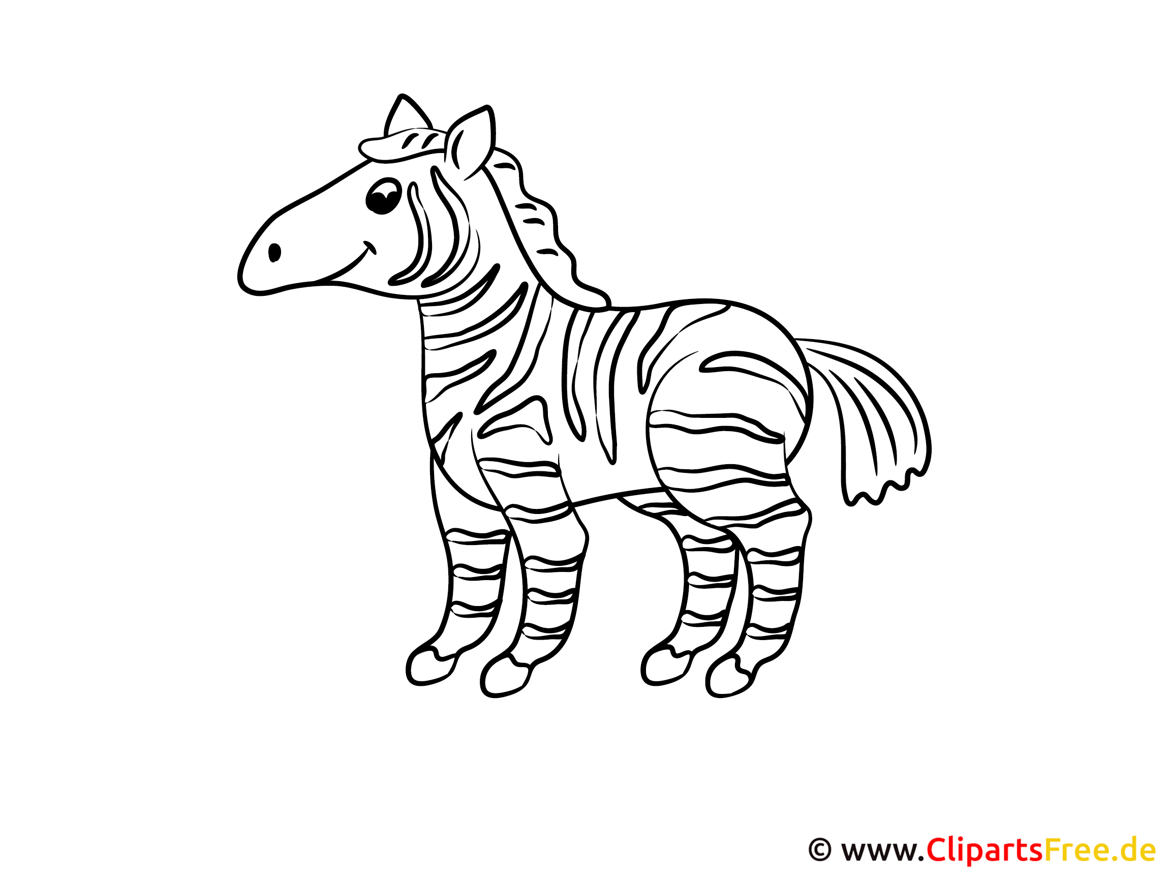 Malvorlagen für Kleinkinder Zebra