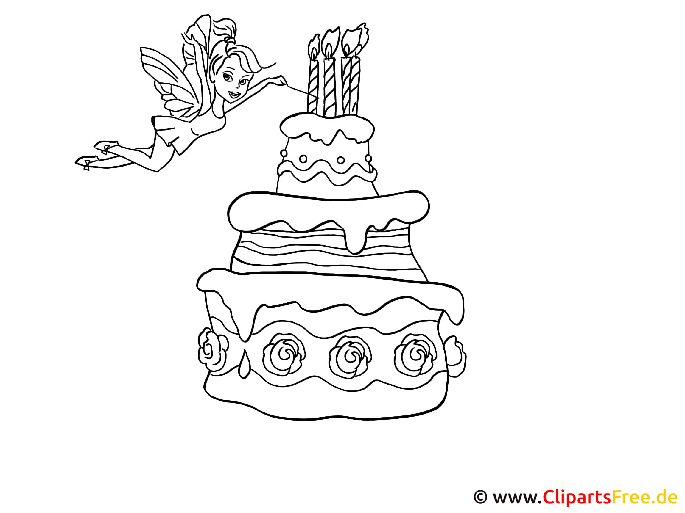 Torte Malvorlage