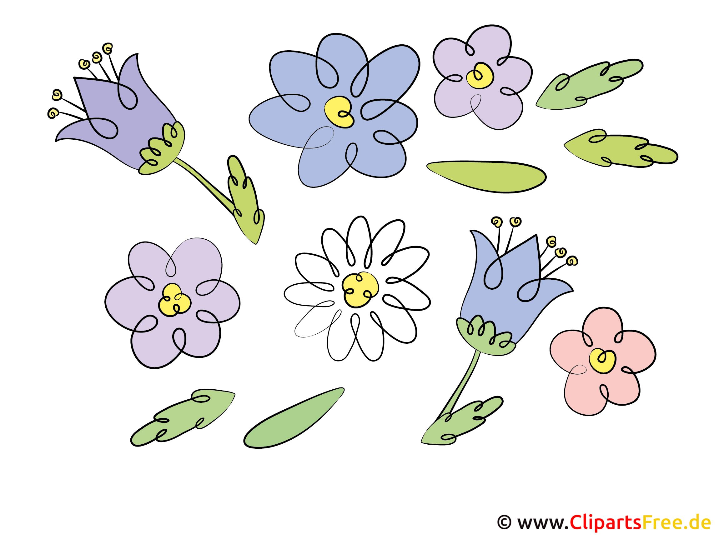 Blumen Bilder - Cliparts