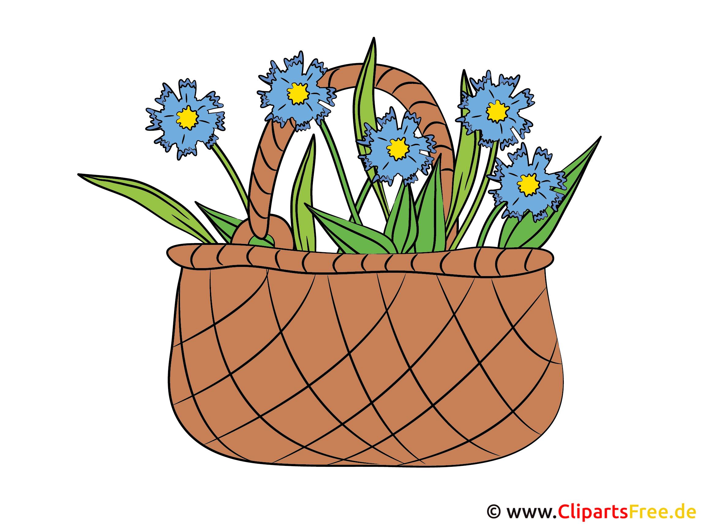Blumenkorb Clipart - Bild