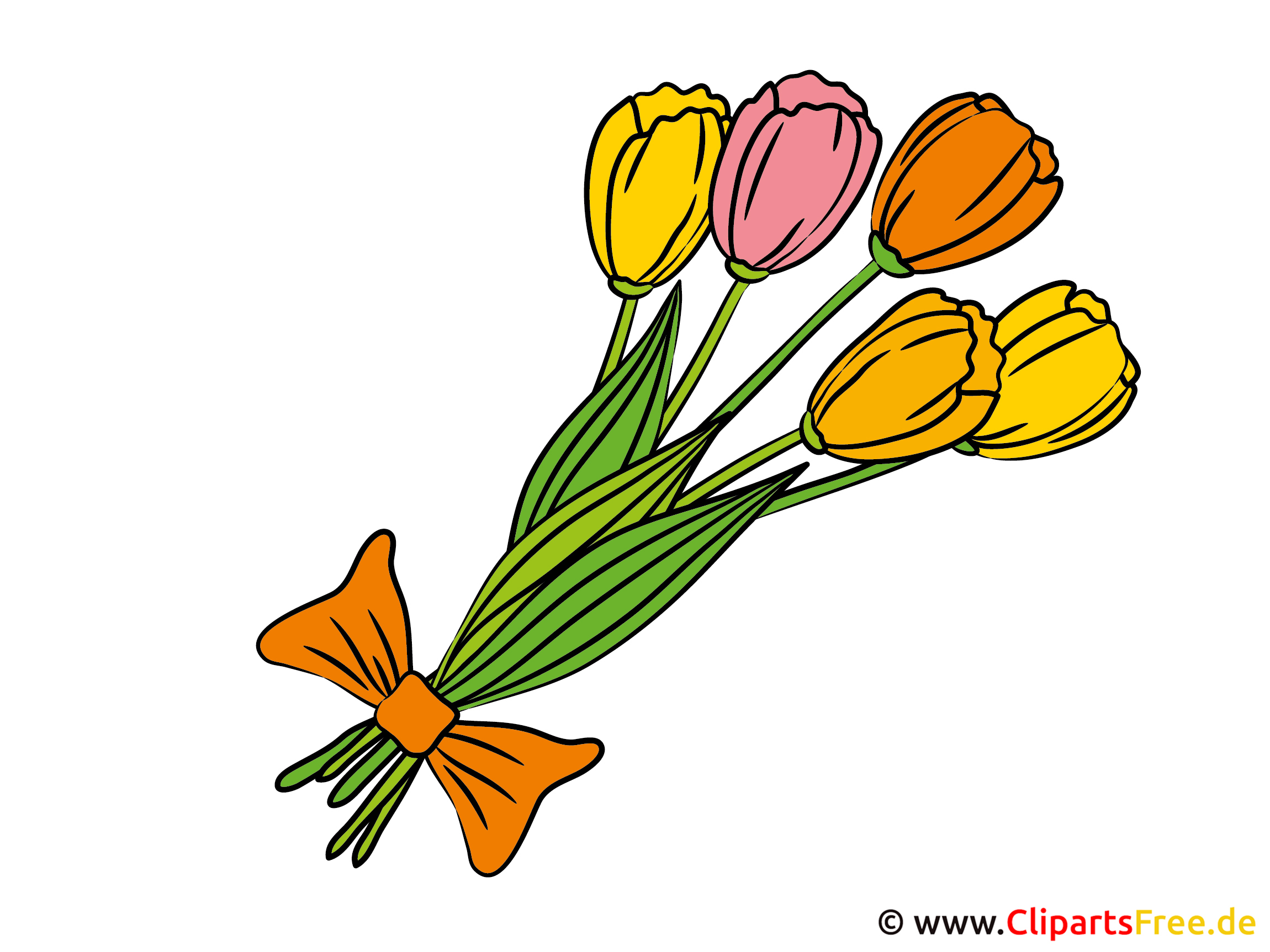 blumenstrauss mit tulpen bild clipart. Black Bedroom Furniture Sets. Home Design Ideas