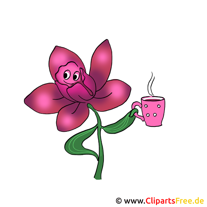 Cartoon Blume Cliparts gratis