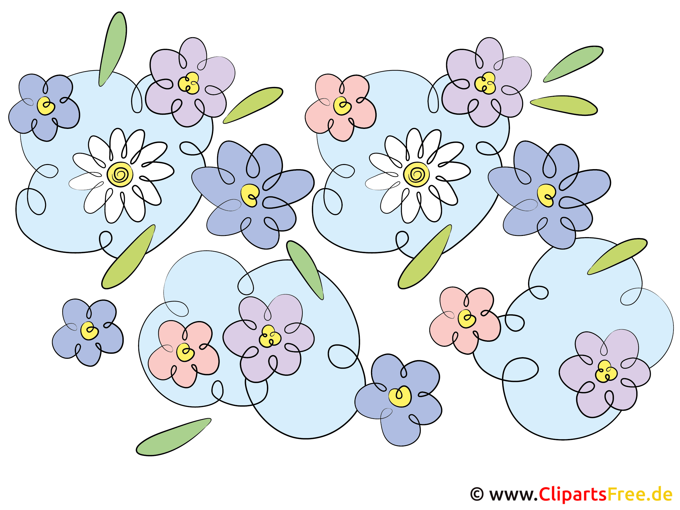 Clipart Sammlung kostenlos mit Blumen