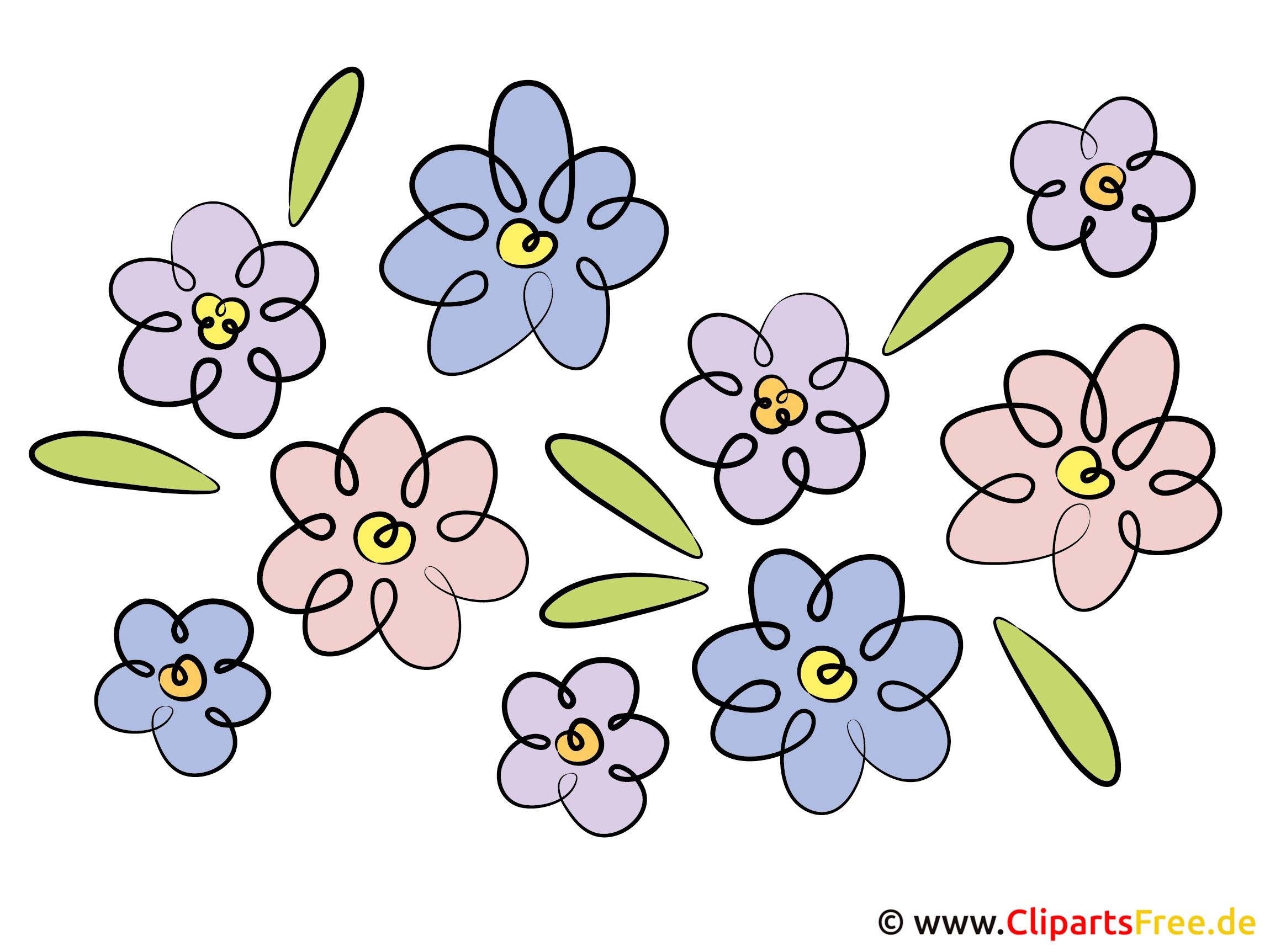 Frühlingsblumen Clipart