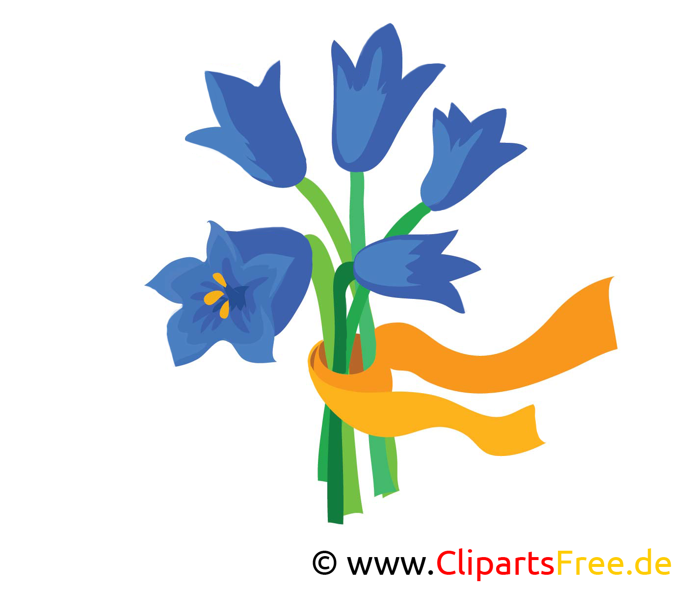 Glockenblumen Bild, Clipart, Illustration, Grafik