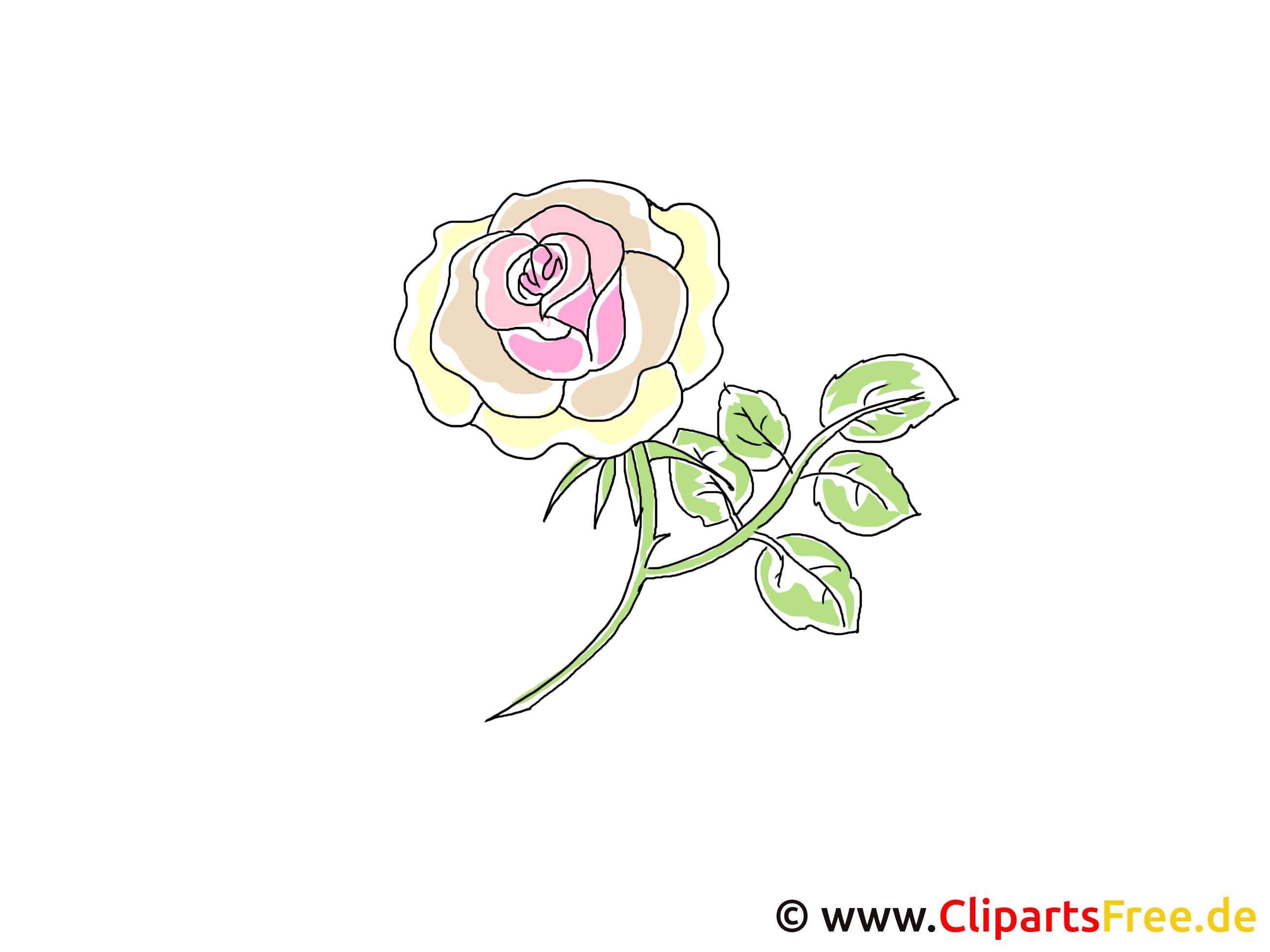 Gelbe Rose Clipart