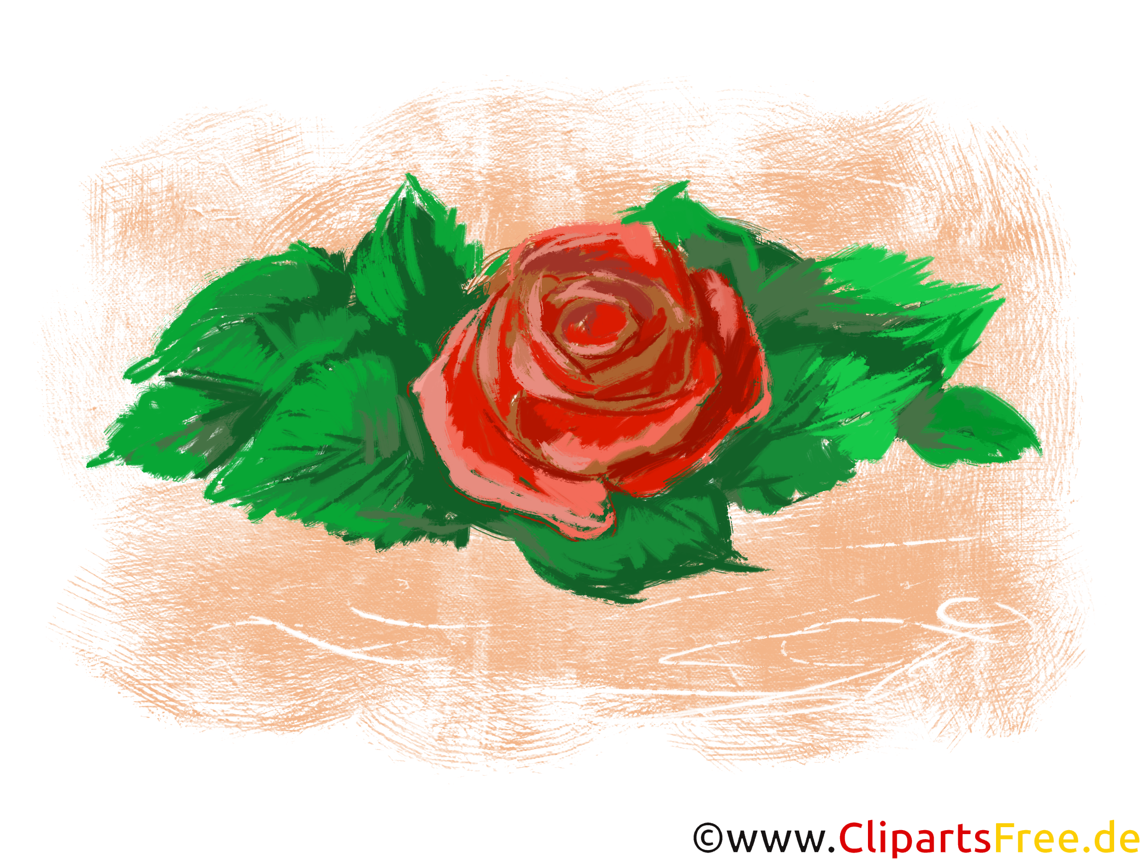 Rose Gemälde Clipart, Bild, Grafik kostenlos
