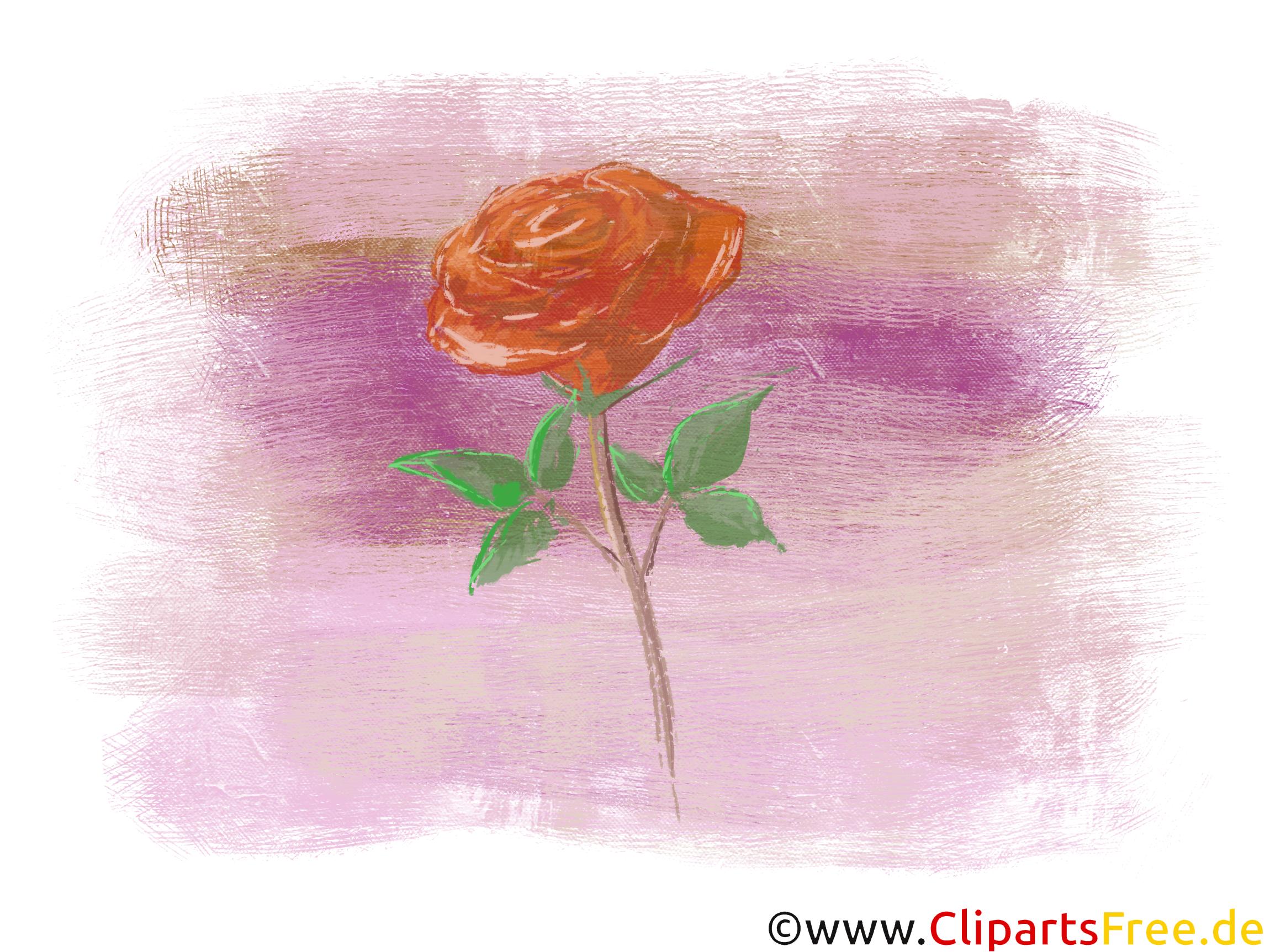 Rose Illustration, Grafik, Bild, Clip Art kostenlos