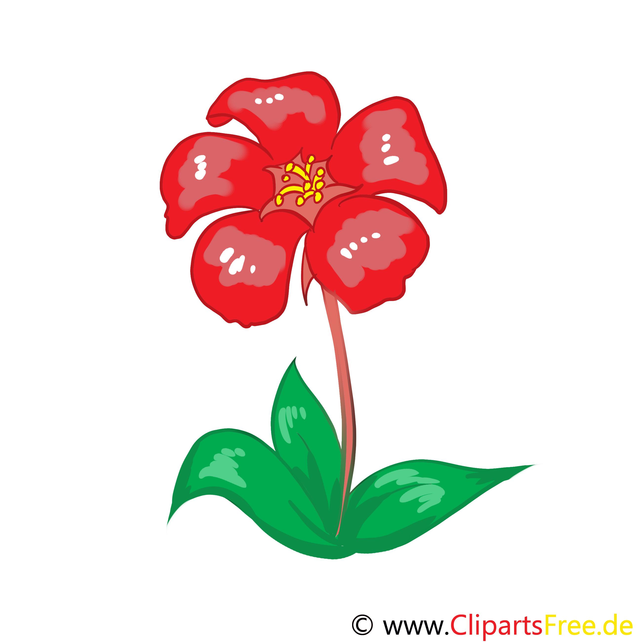 Rote Blume Clip Art gratis