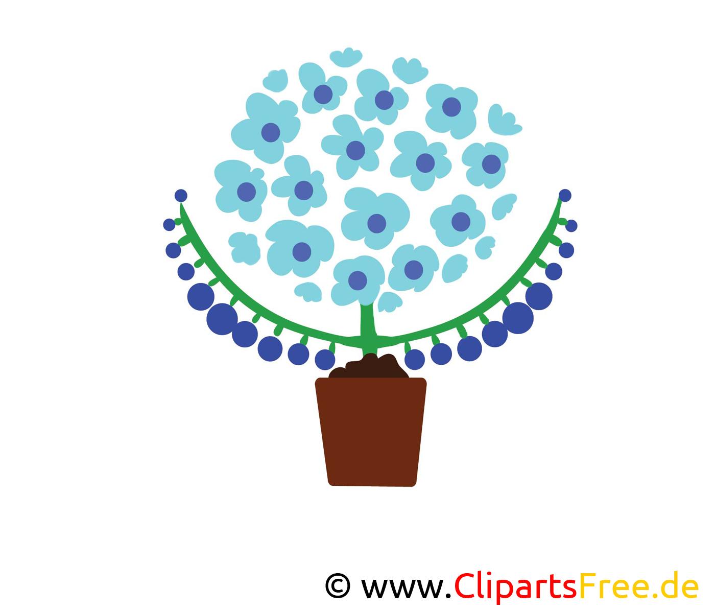 Schöne blaue Blumen Clipa Art Illustration