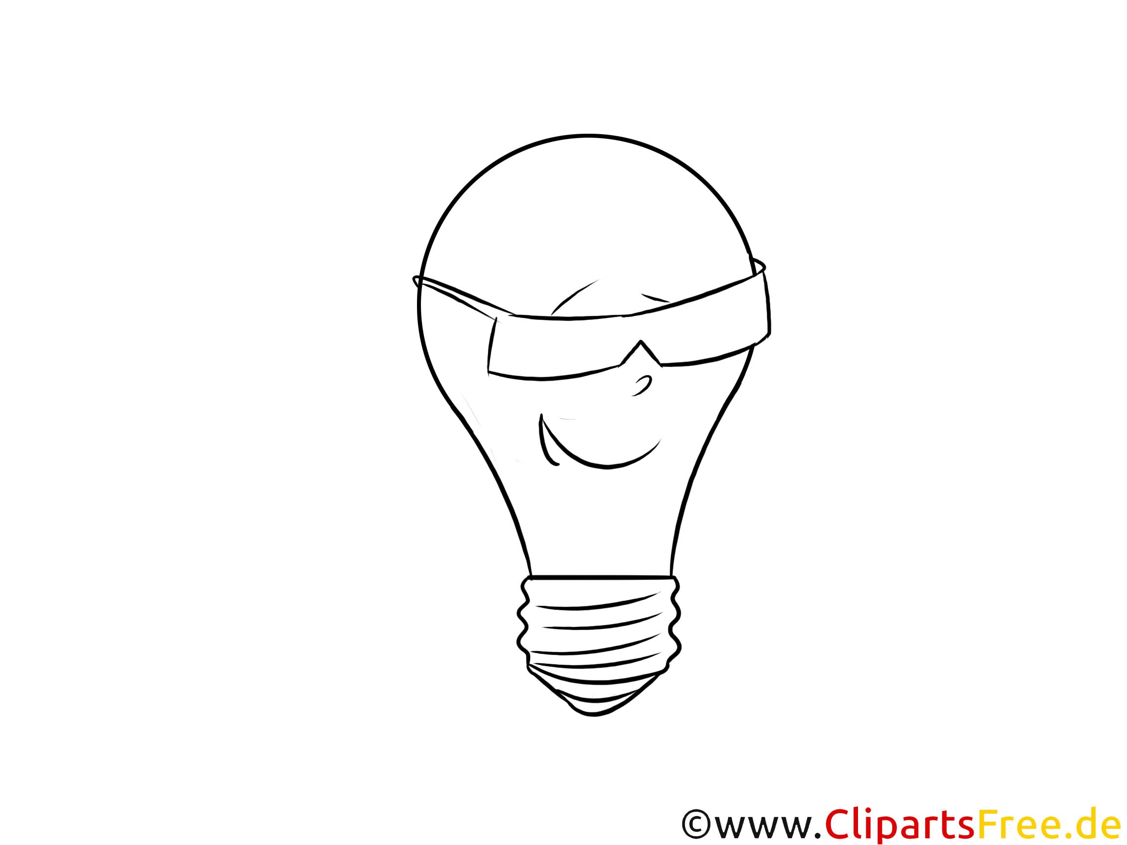 Clipartbild Coole Glühbirne