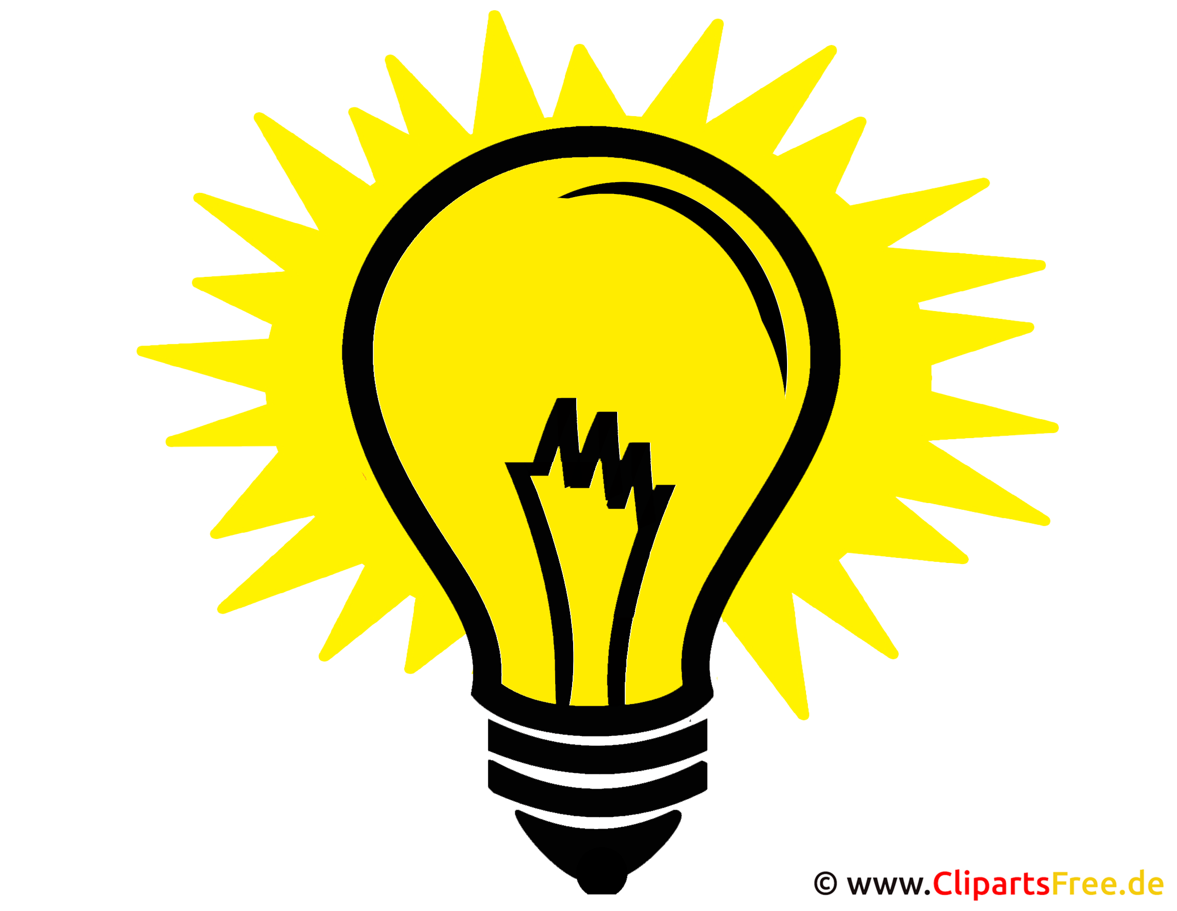 Idee Glühbirne Clipart