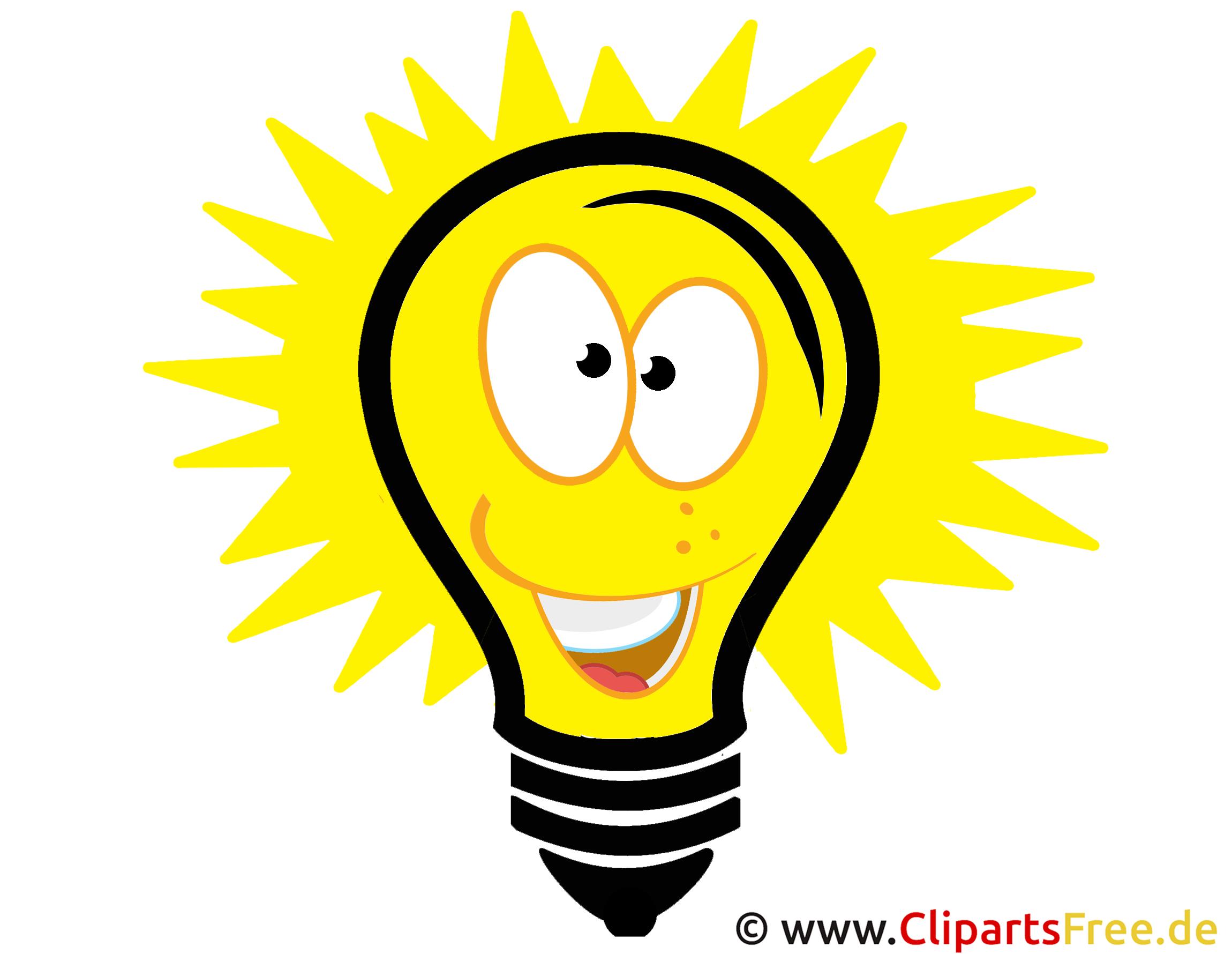 Glühbirne Männchen Clipart