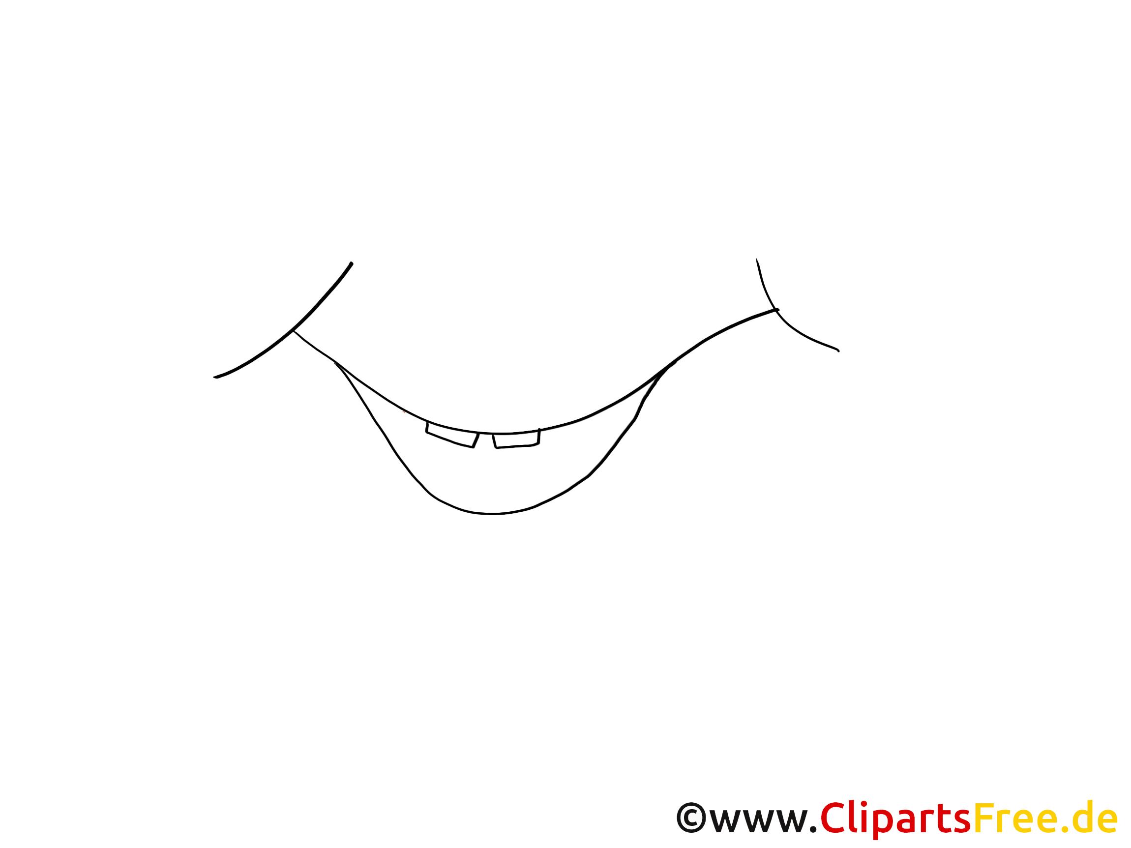 tekening lachende komische mond