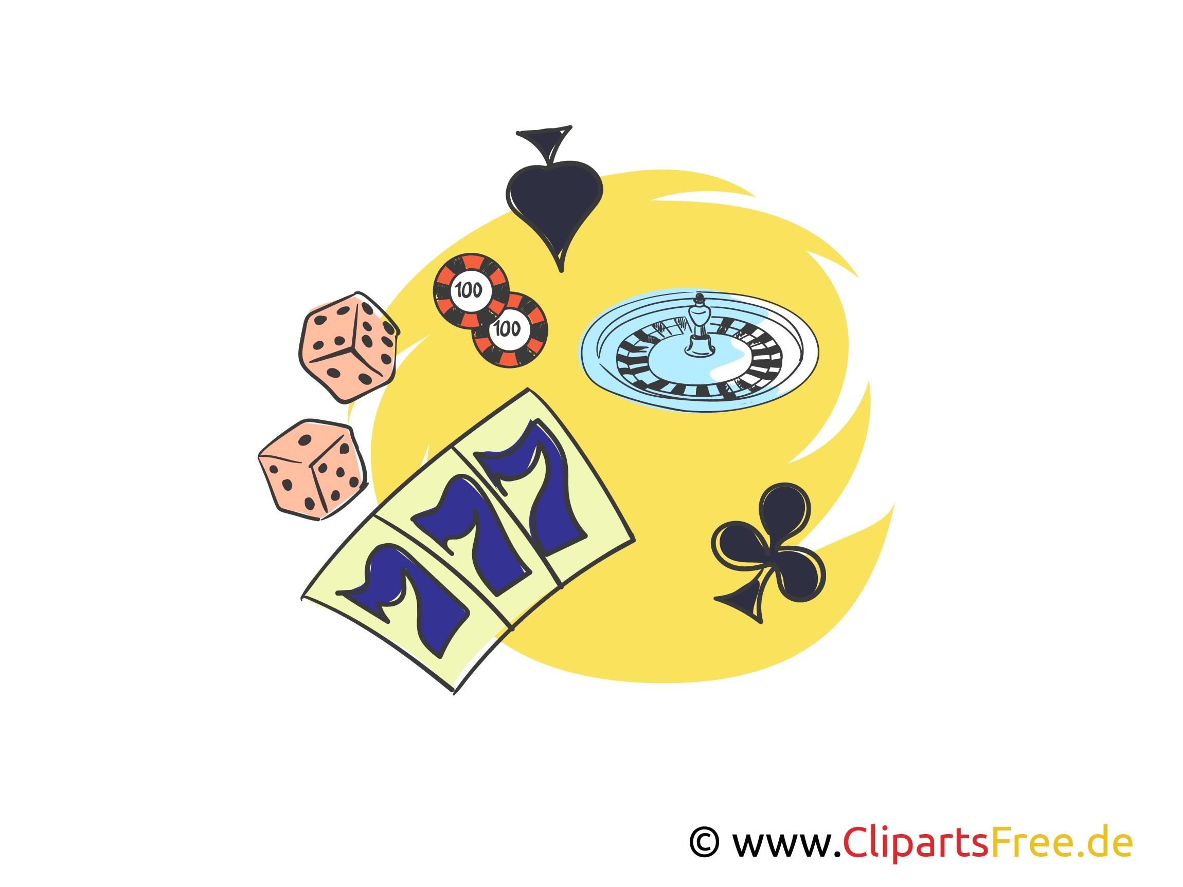777 Casino Clipart, Bild, Illustration