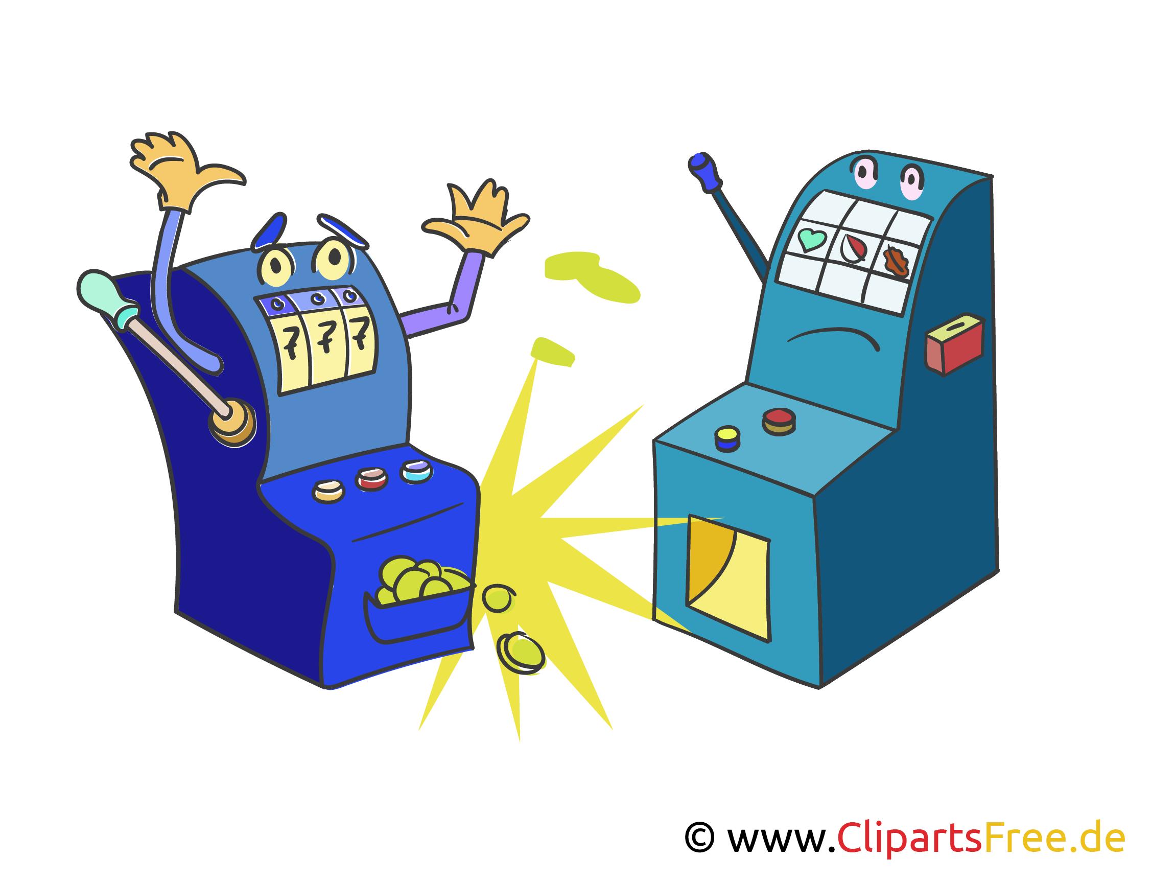 Gewinn in Casino Illustration, Bild, Clipart