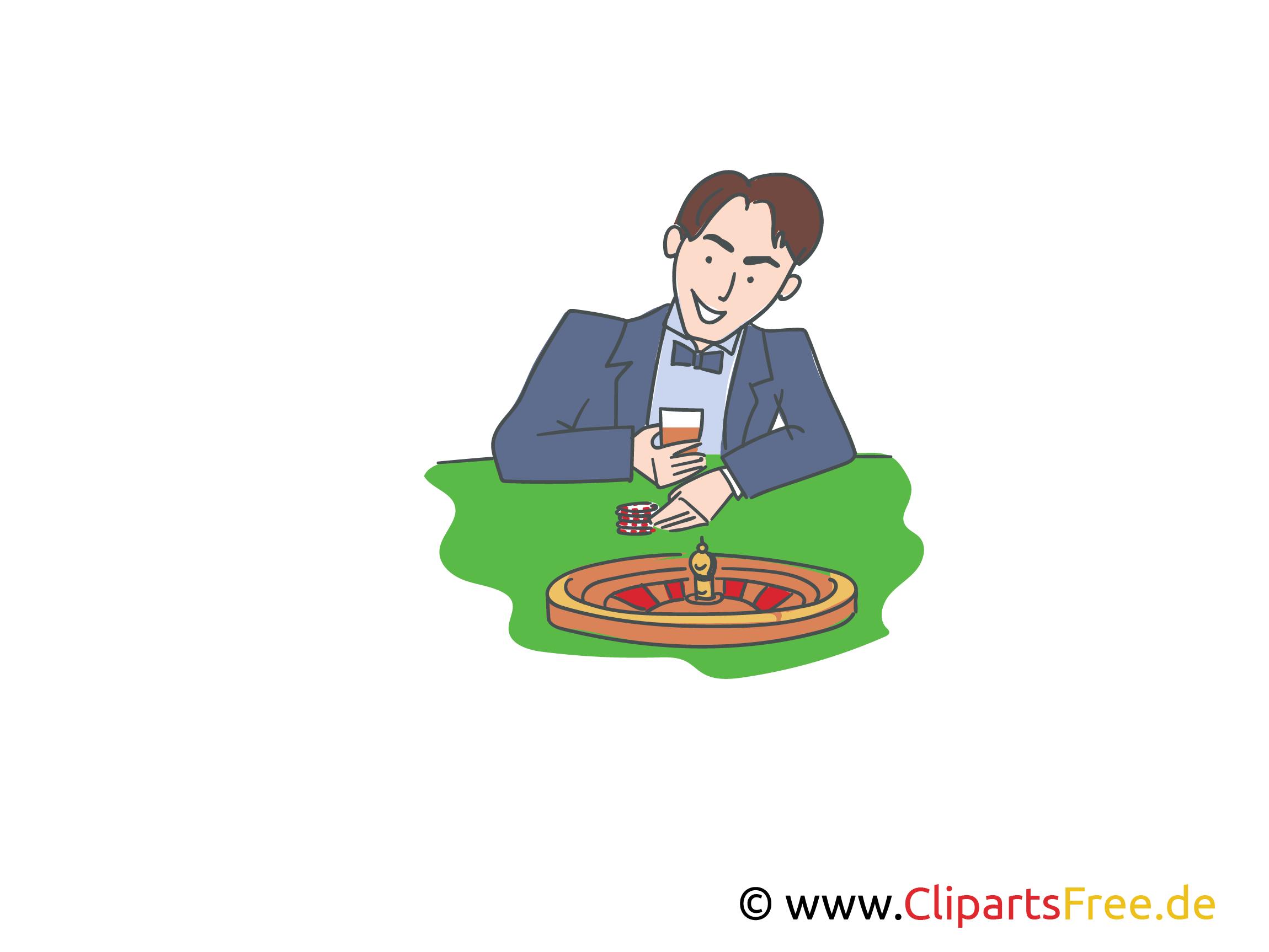 Roulette Spiel kostenlose Cliparts