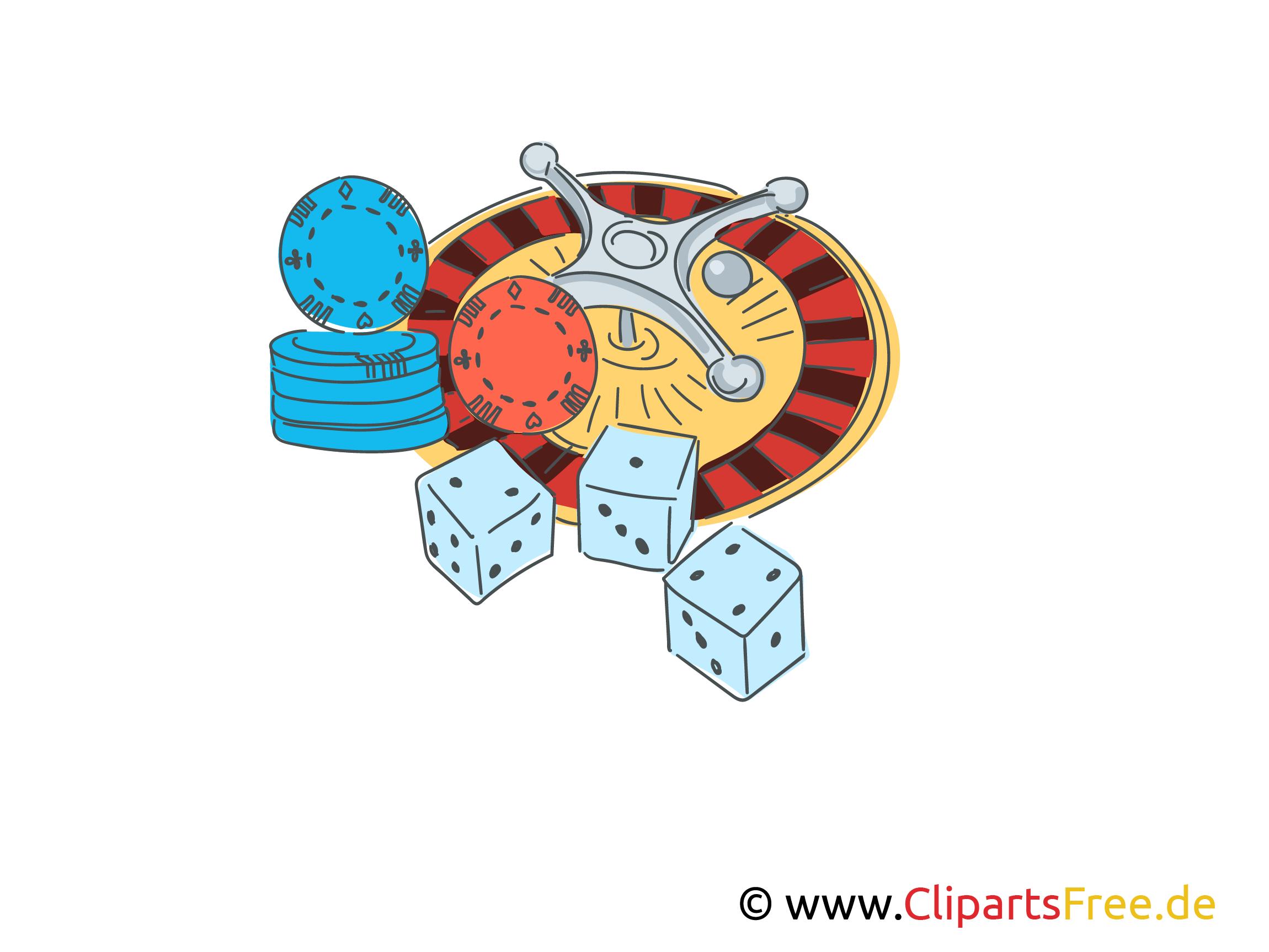 Roulette spielen Illustration, Clipart, Comic