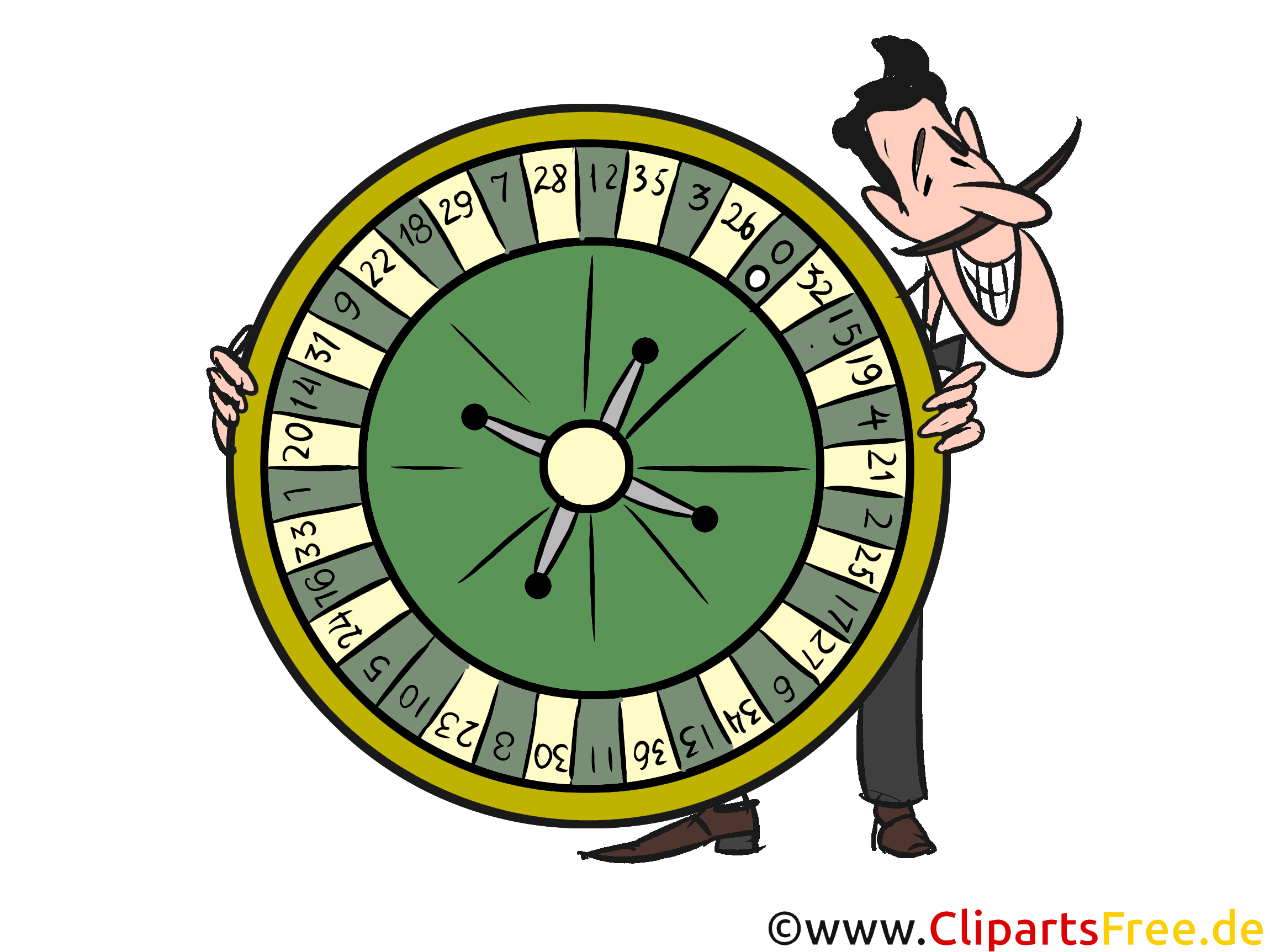 Roulette Wheel Illustration, Clipart, Image