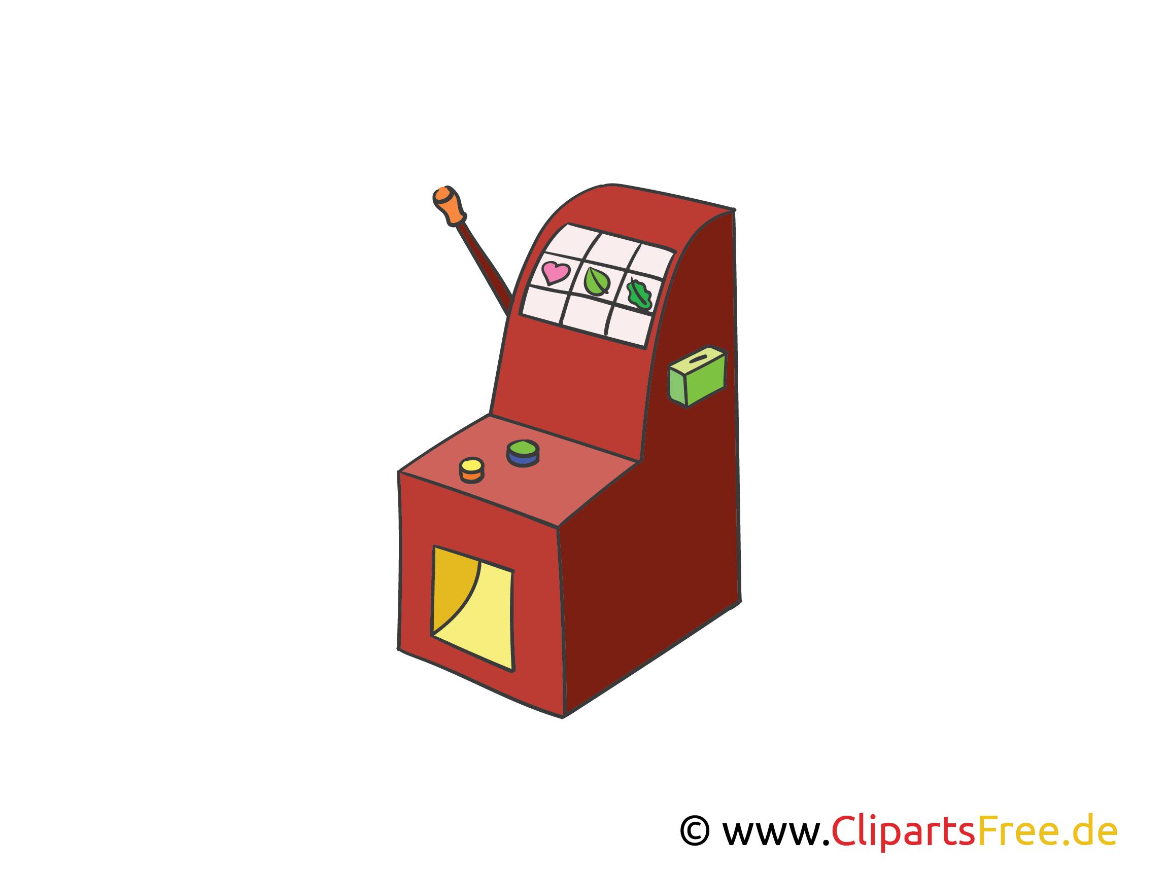Spielautomat Illustration, Bild, Clipart Kasino