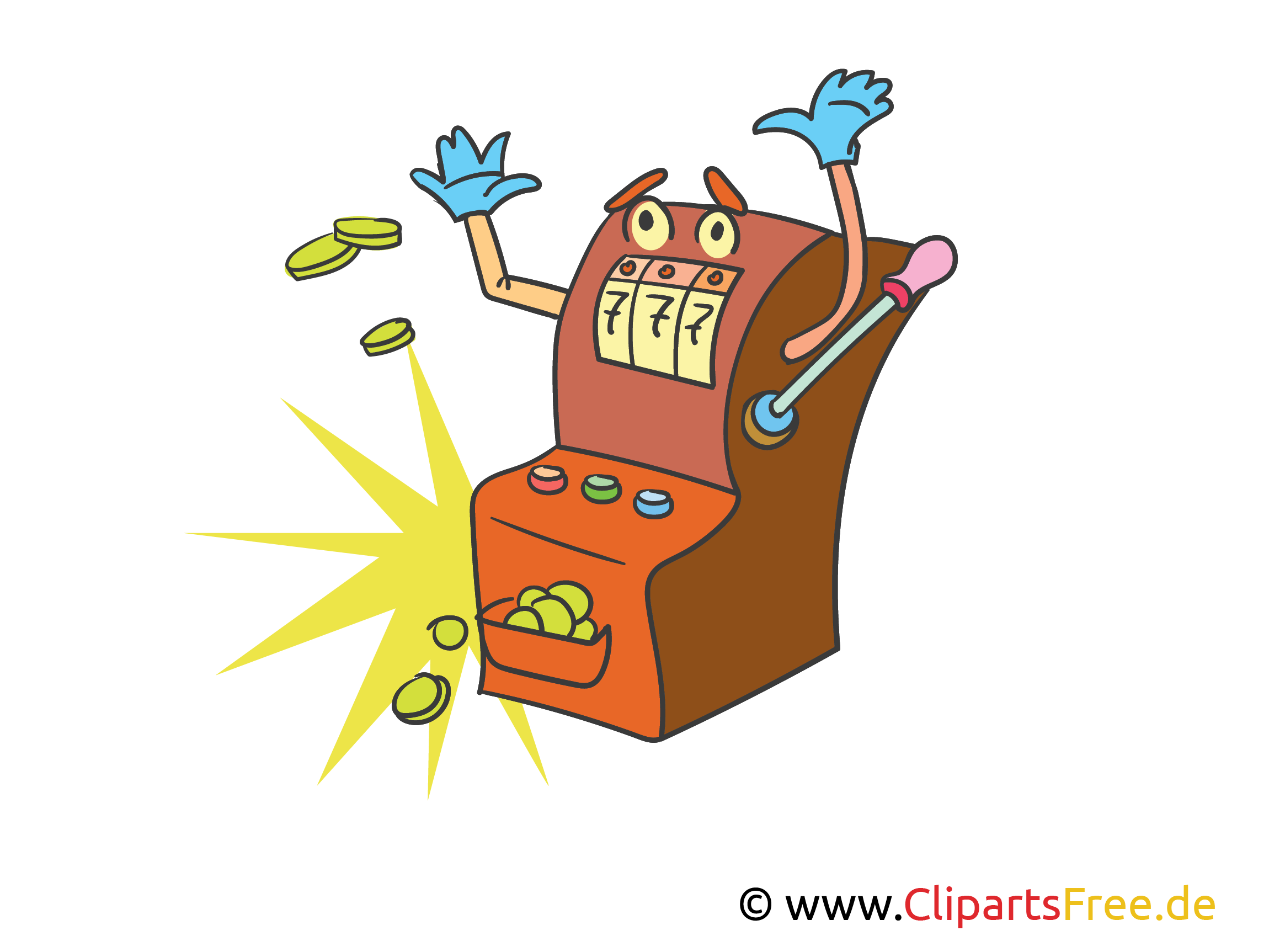 Spielautomat in Casino Clipart, Bild, Illustration