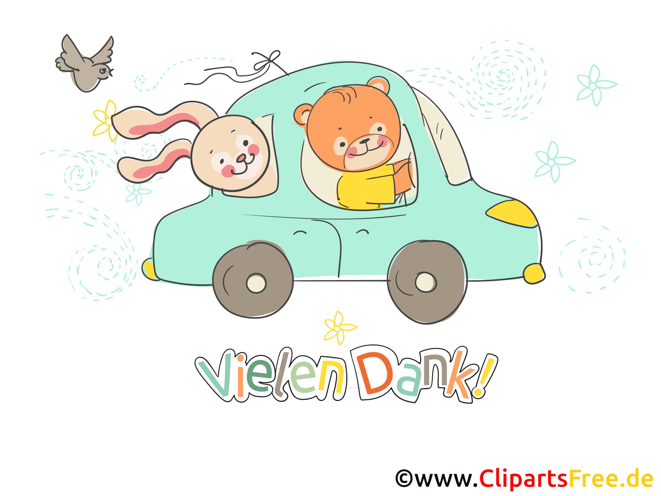 Dankeschön Führerschein Clipart