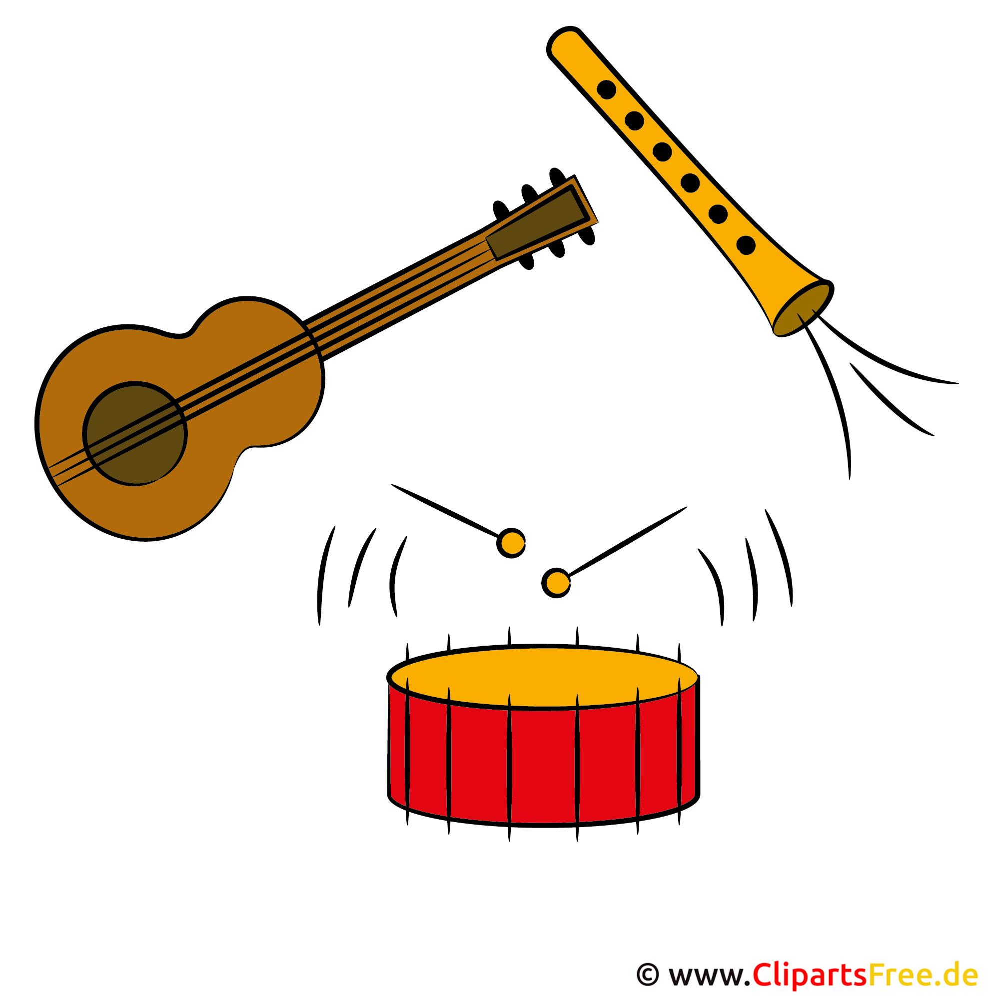 Clipart Musikinstrumente