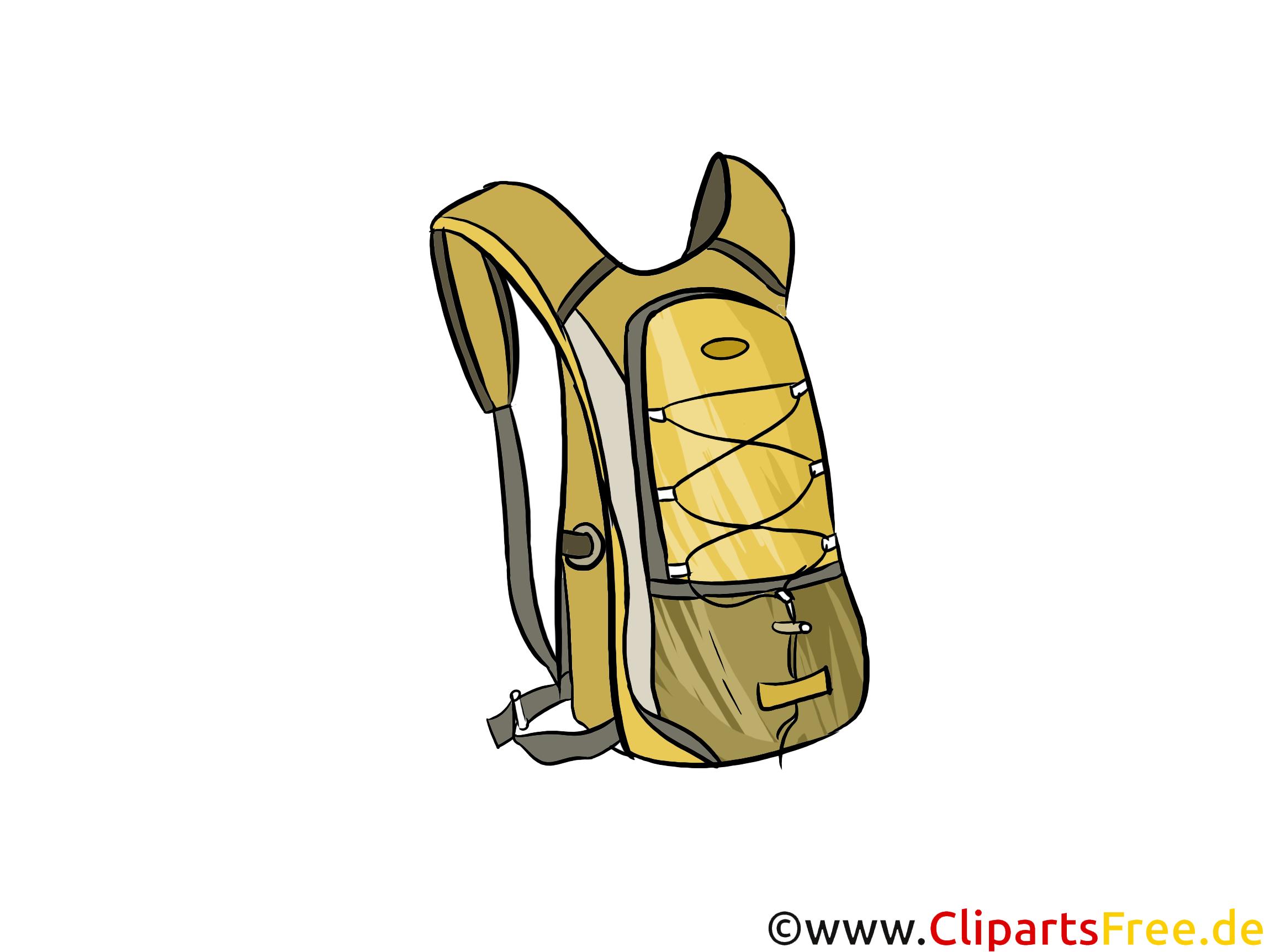 Moderner Rucksack Clipart