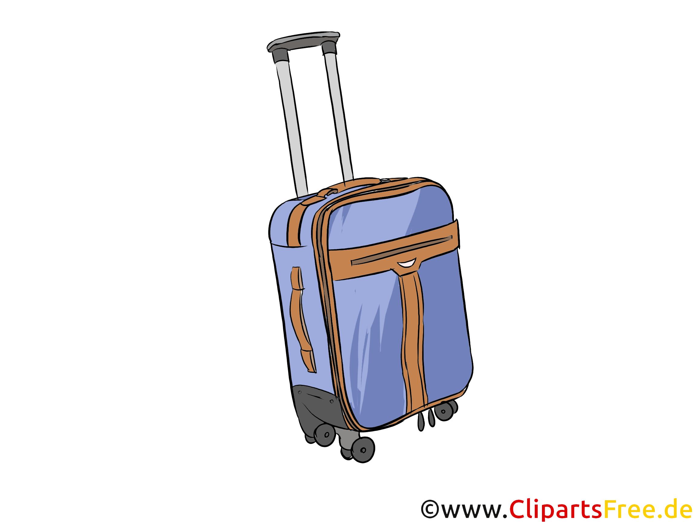 Reisekoffer Bild, Illustration, Clipart