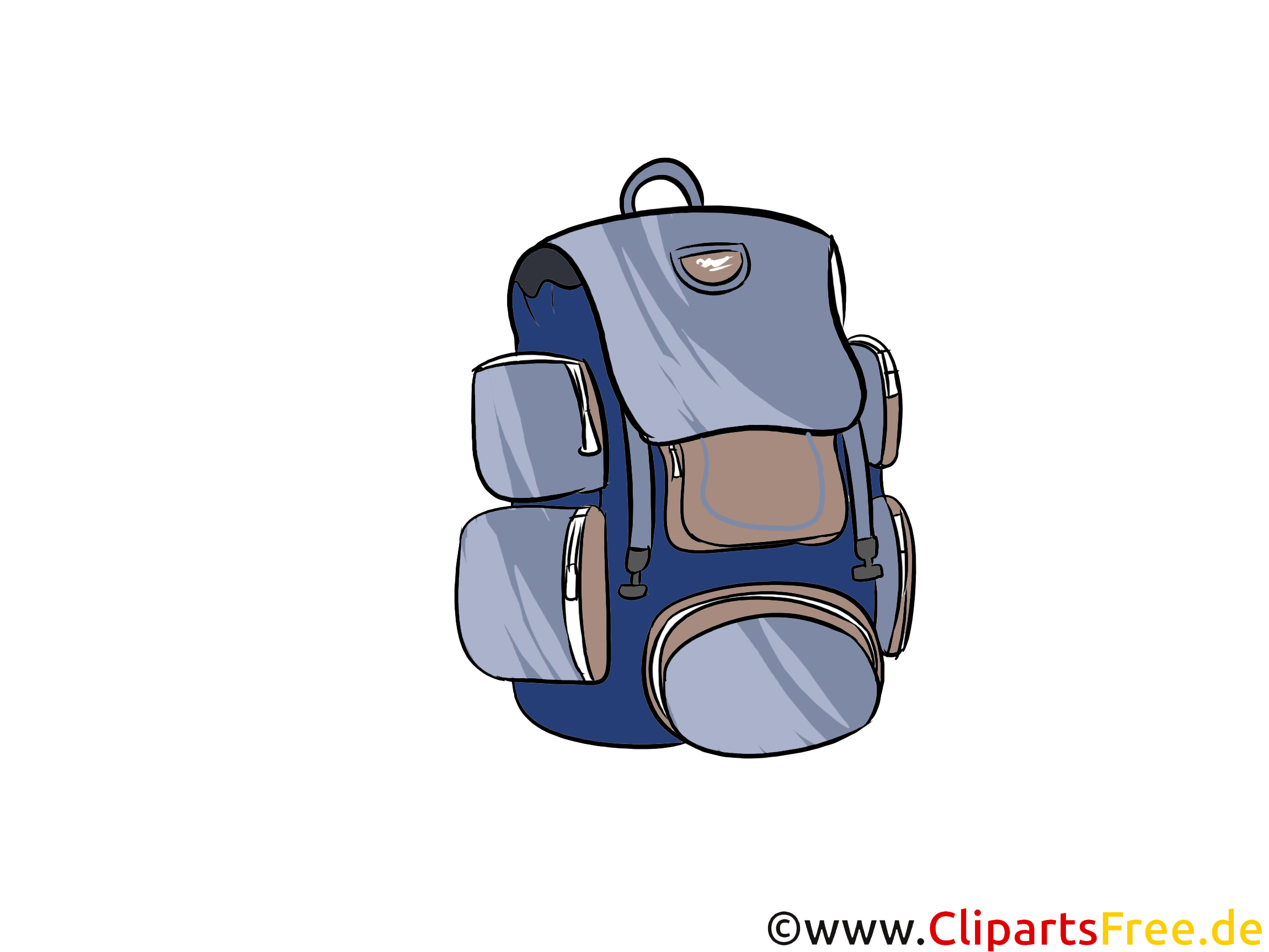 Rucksack zum Reisen und Wandern Bild, Illustration, Clipart