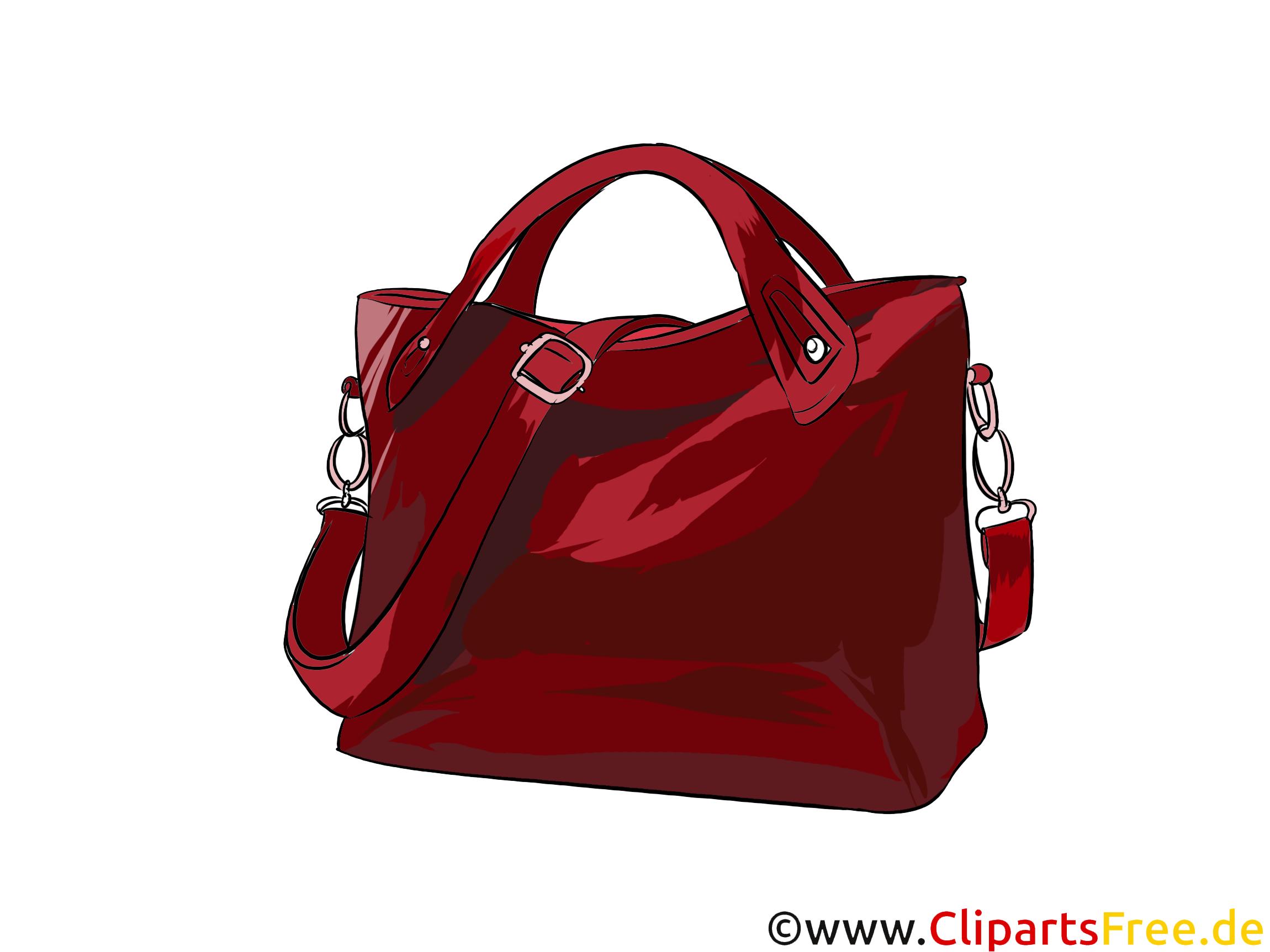 Schicke Handtasche Bild, Illustration, Clipart