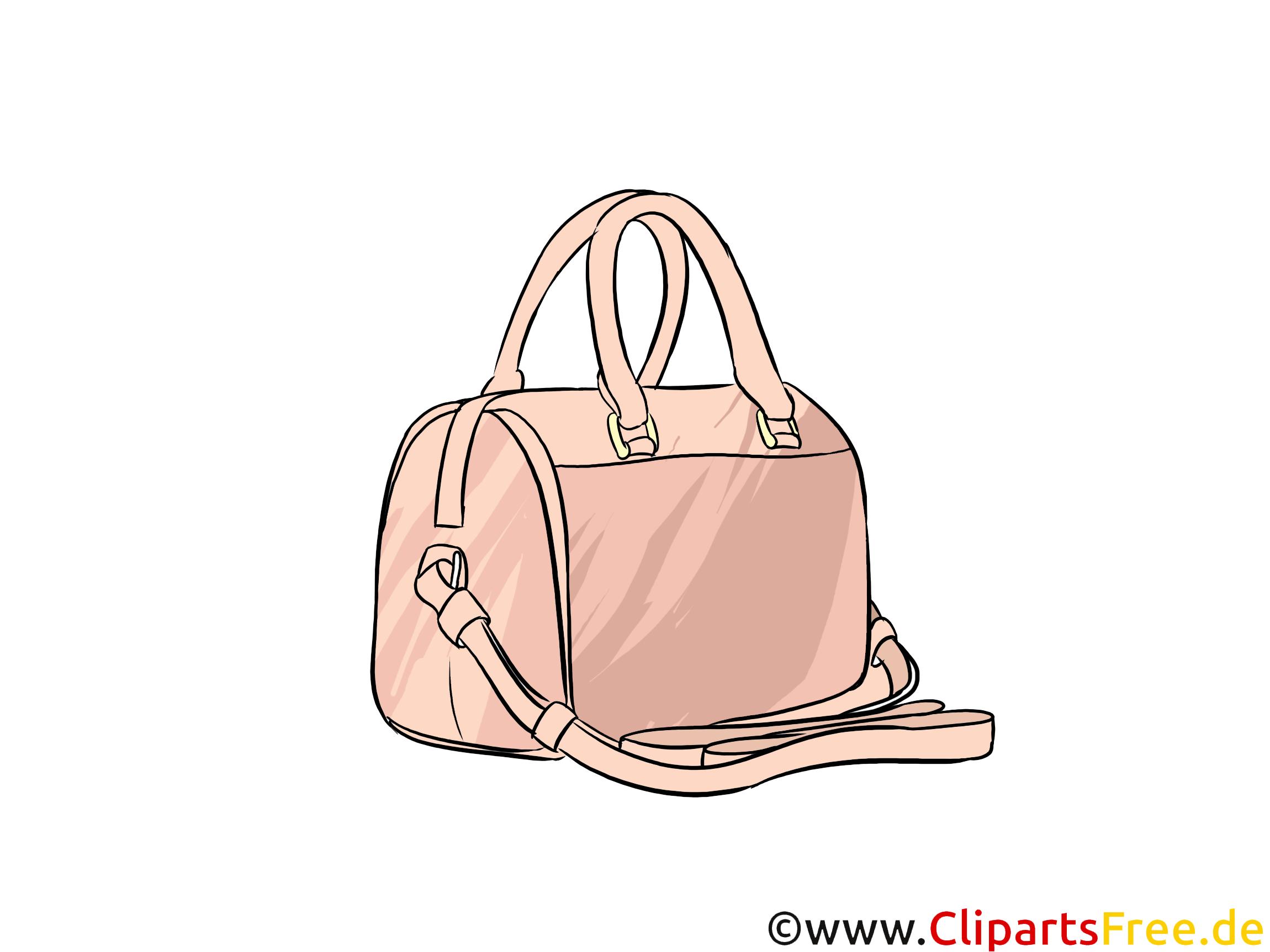 Teuere Handtasche für Frauen Bild, Illustration, Clipart