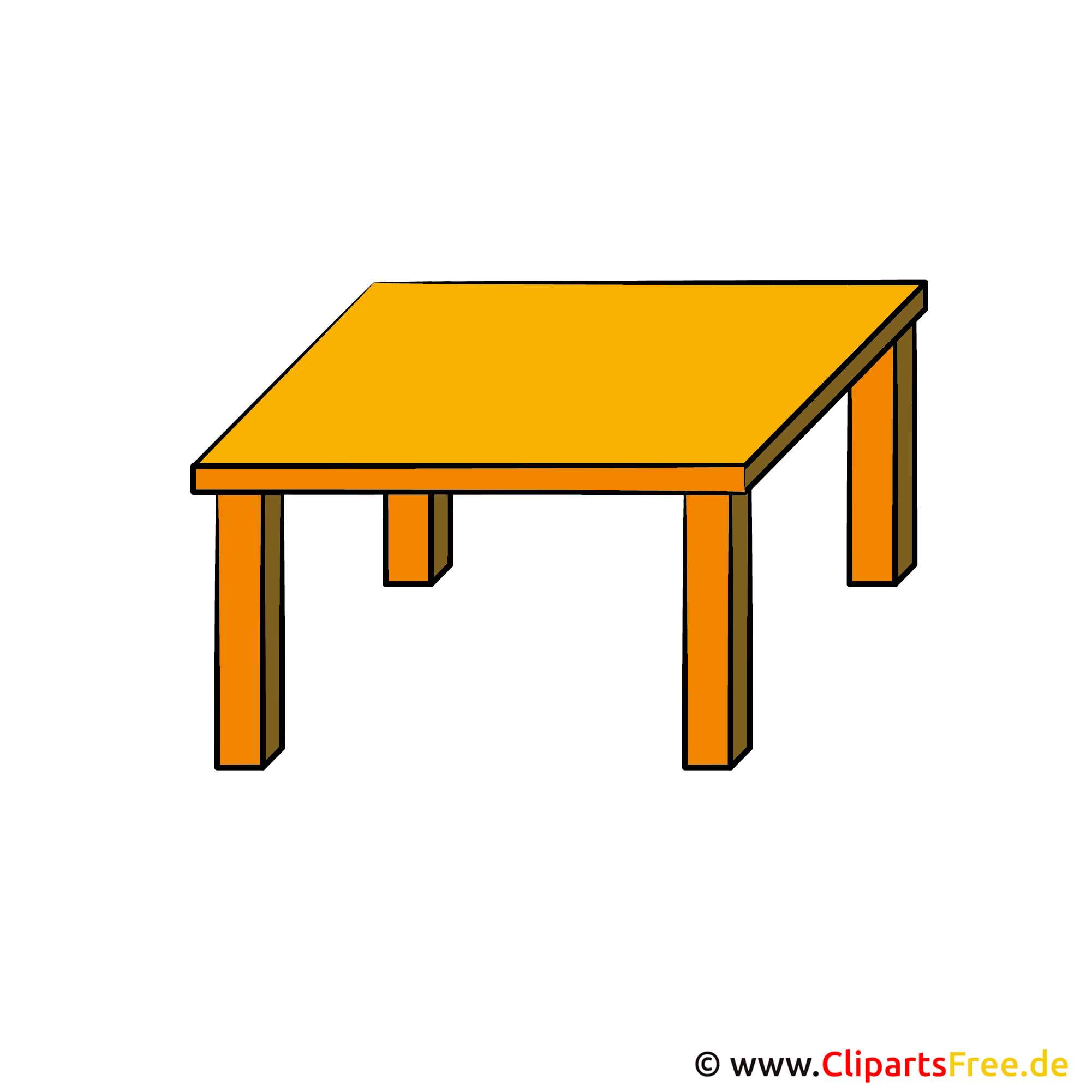 Tisch schule clipart  Tisch Clipart