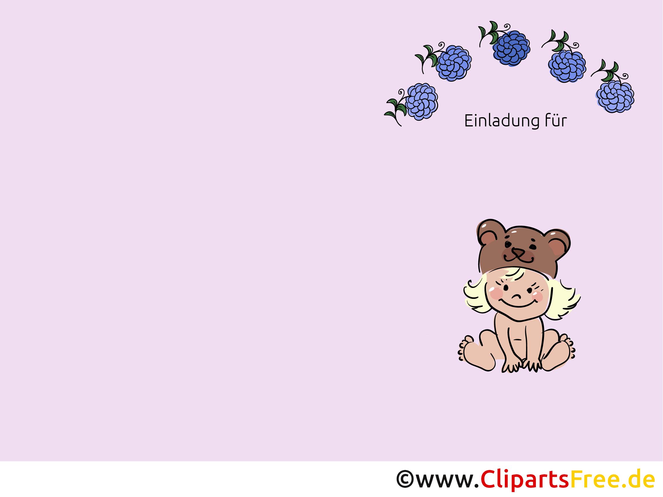 Kostenlose Kindergeburtstagseinladung zum Herunterladen und Ausdrucken