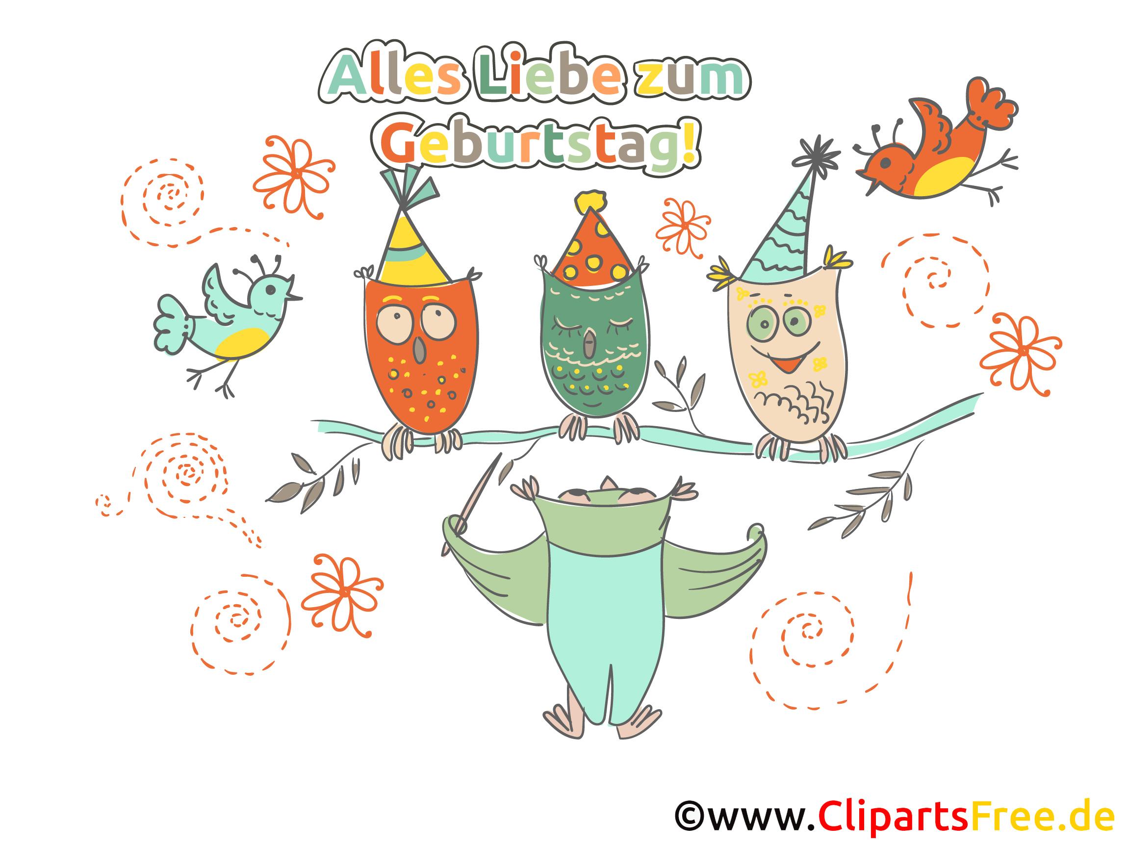 Geburtstagsgrüße herzlich, lustig, kostenlos als Clipart