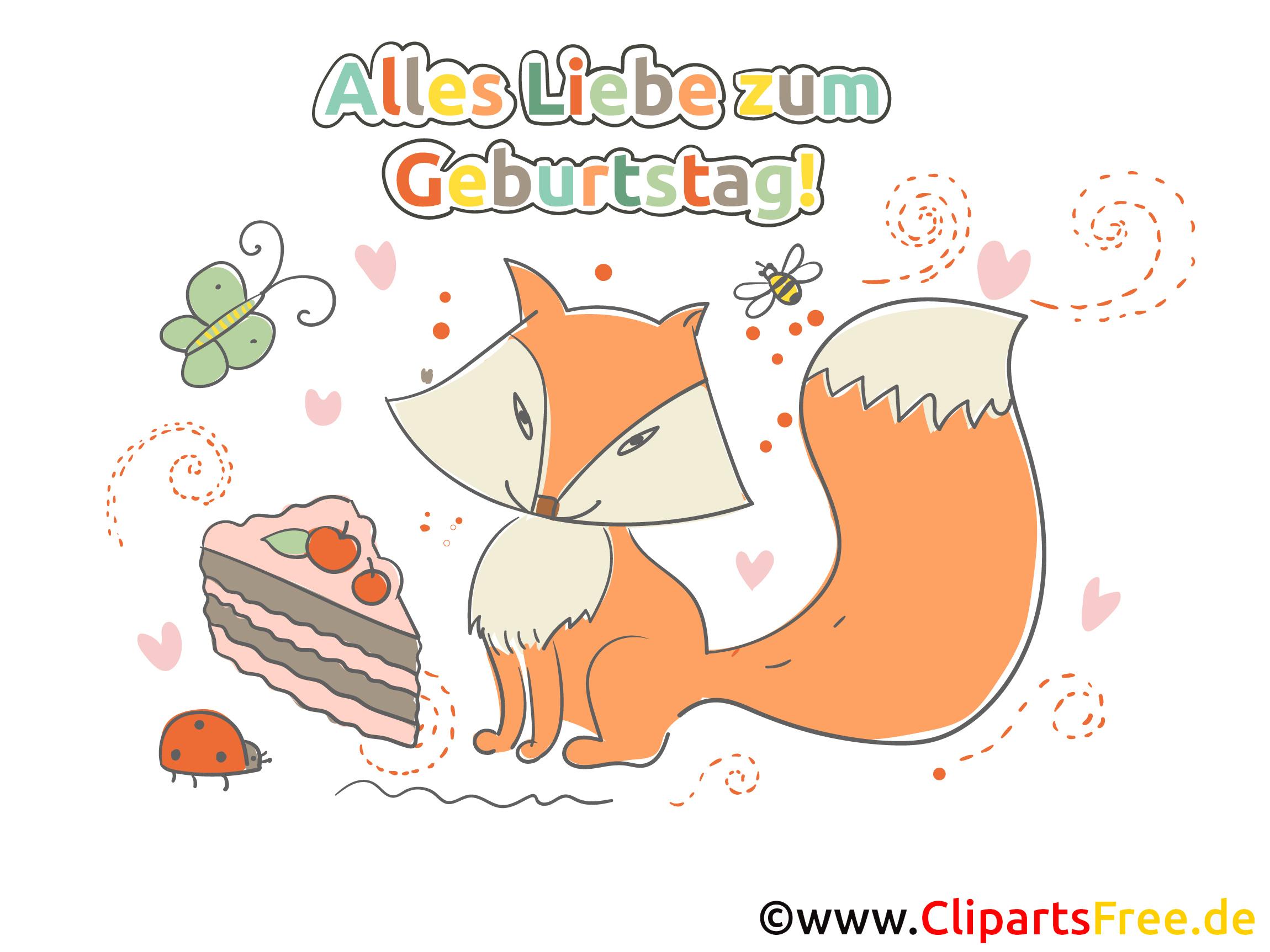 Geburtstags Cliparts gratis herunterladen