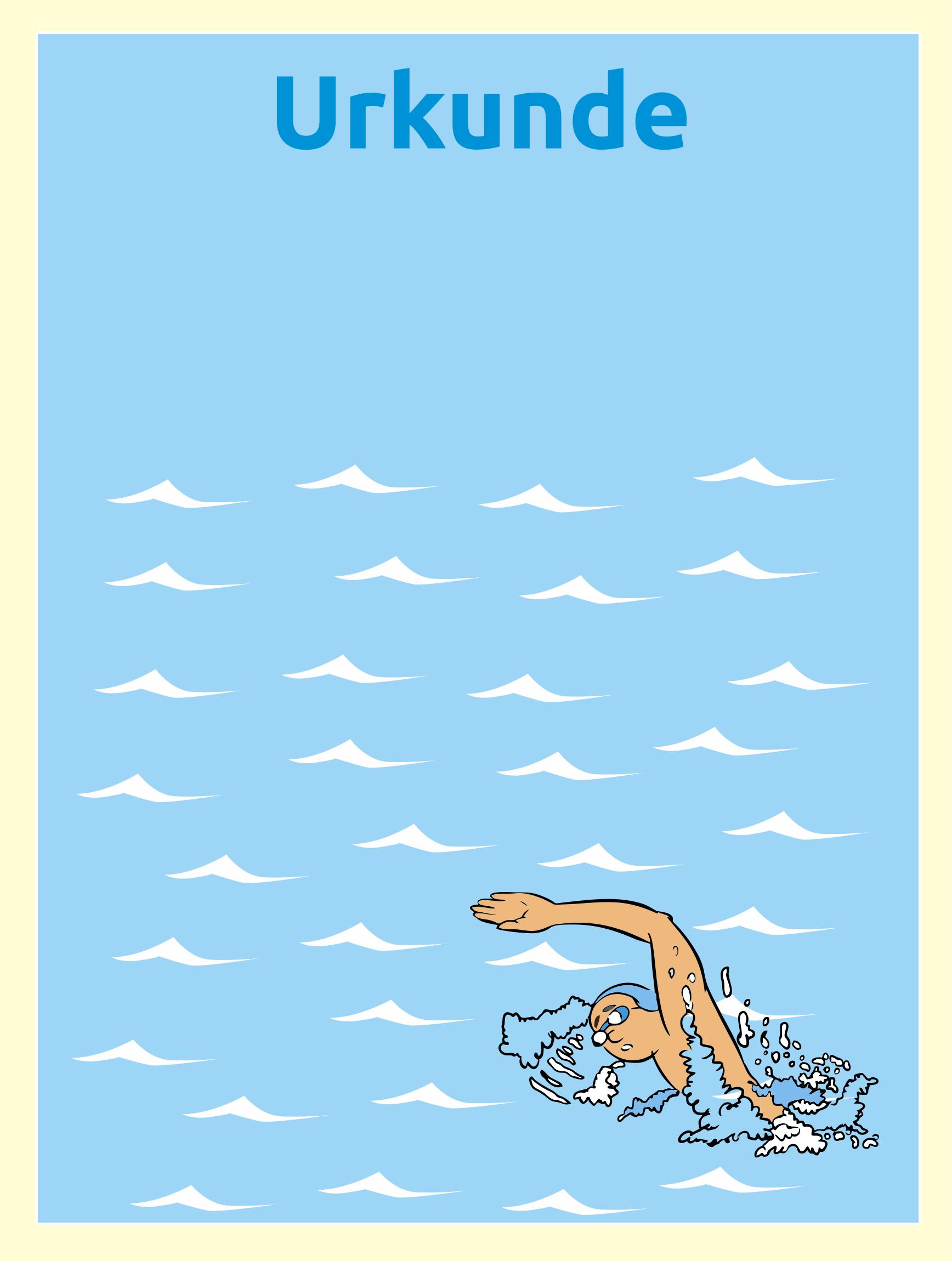 Urkunde Schwimmen - Urkunden für Kinder